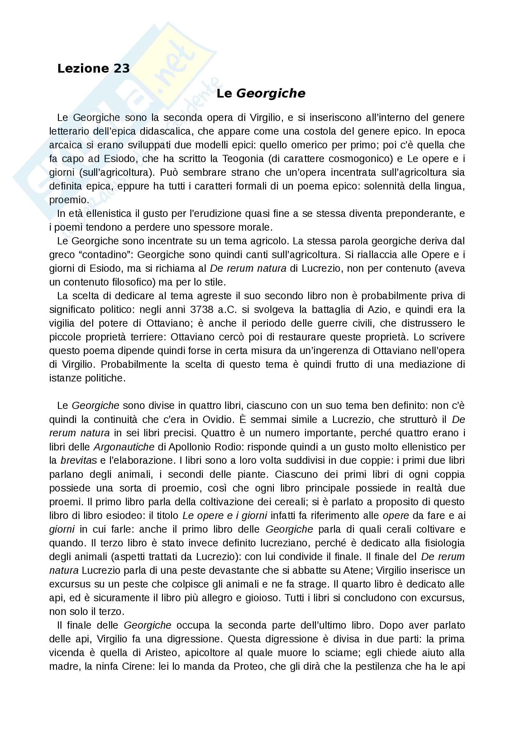 Le «Georgiche» di Virgilio tradotte e commentate, Libro IV