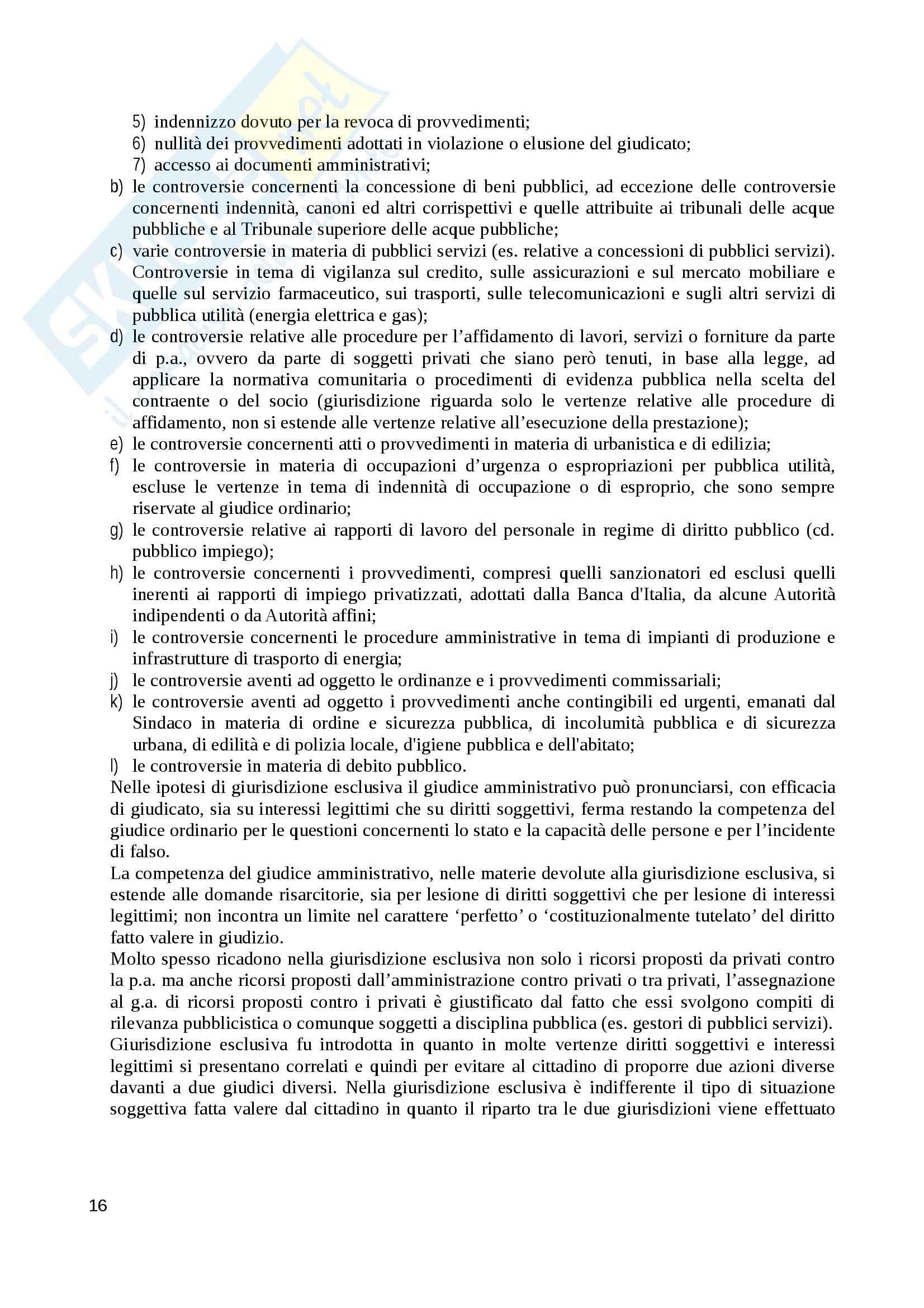 Riassunto esame Diritto Amministrativo, prof. Sciullo, libro consigliato Lezioni di Giustizia Amministrativa, Travi Pag. 16