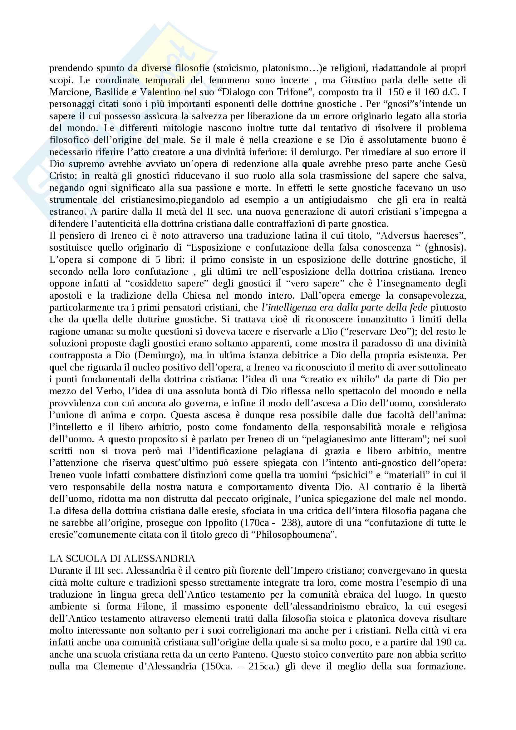 Riassunto esame Storia della filosofia medievale, prof. Cristiani, libro consigliato La filosofia nel Medioevo, Gilson Pag. 2