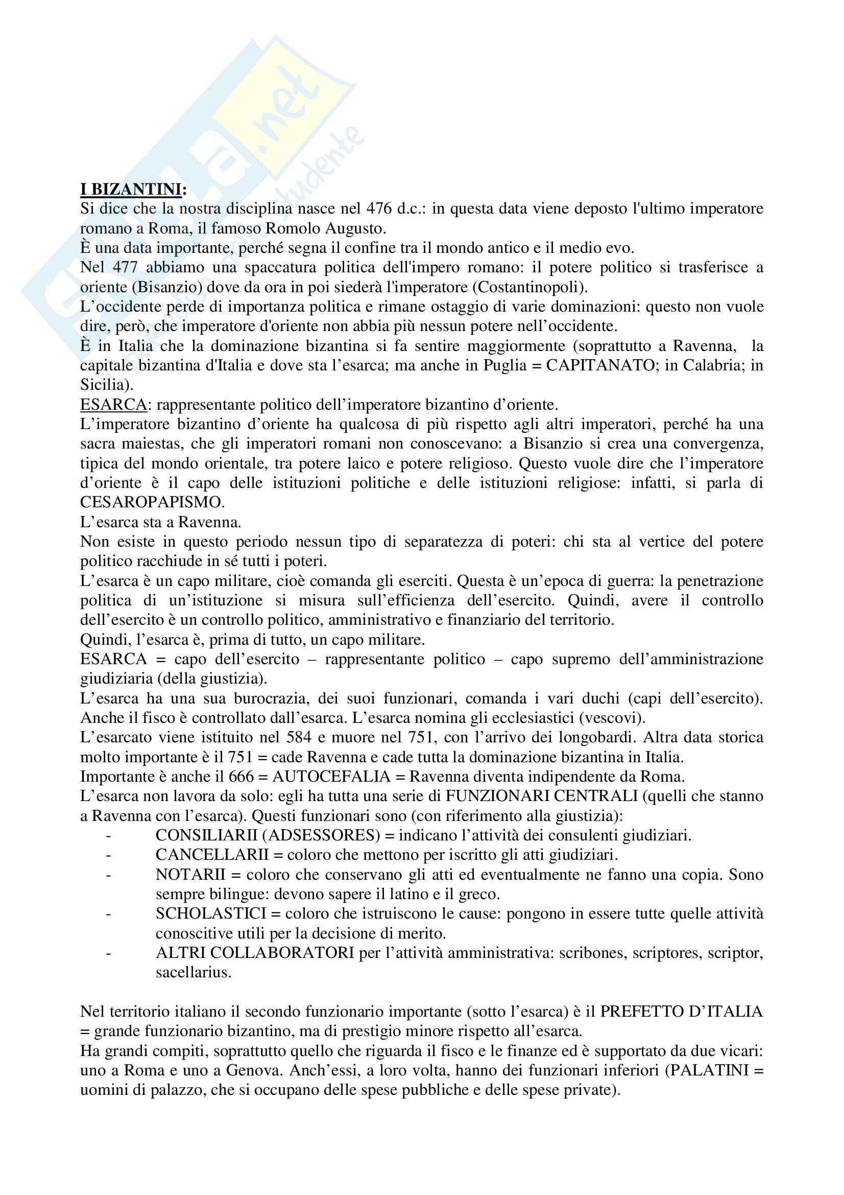 Riassunto esame Storia del Diritto Italiano, prof. Trombetta, libro consigliato Storia del Diritto Italiano, Padoa Schioppa