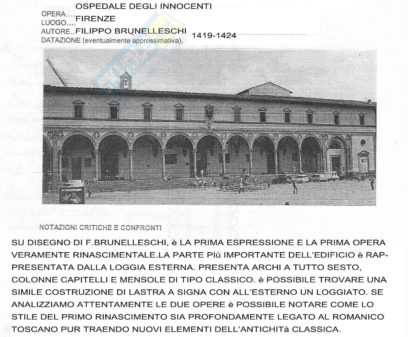 Filippo Brunelleschi, vita e opere Pag. 6