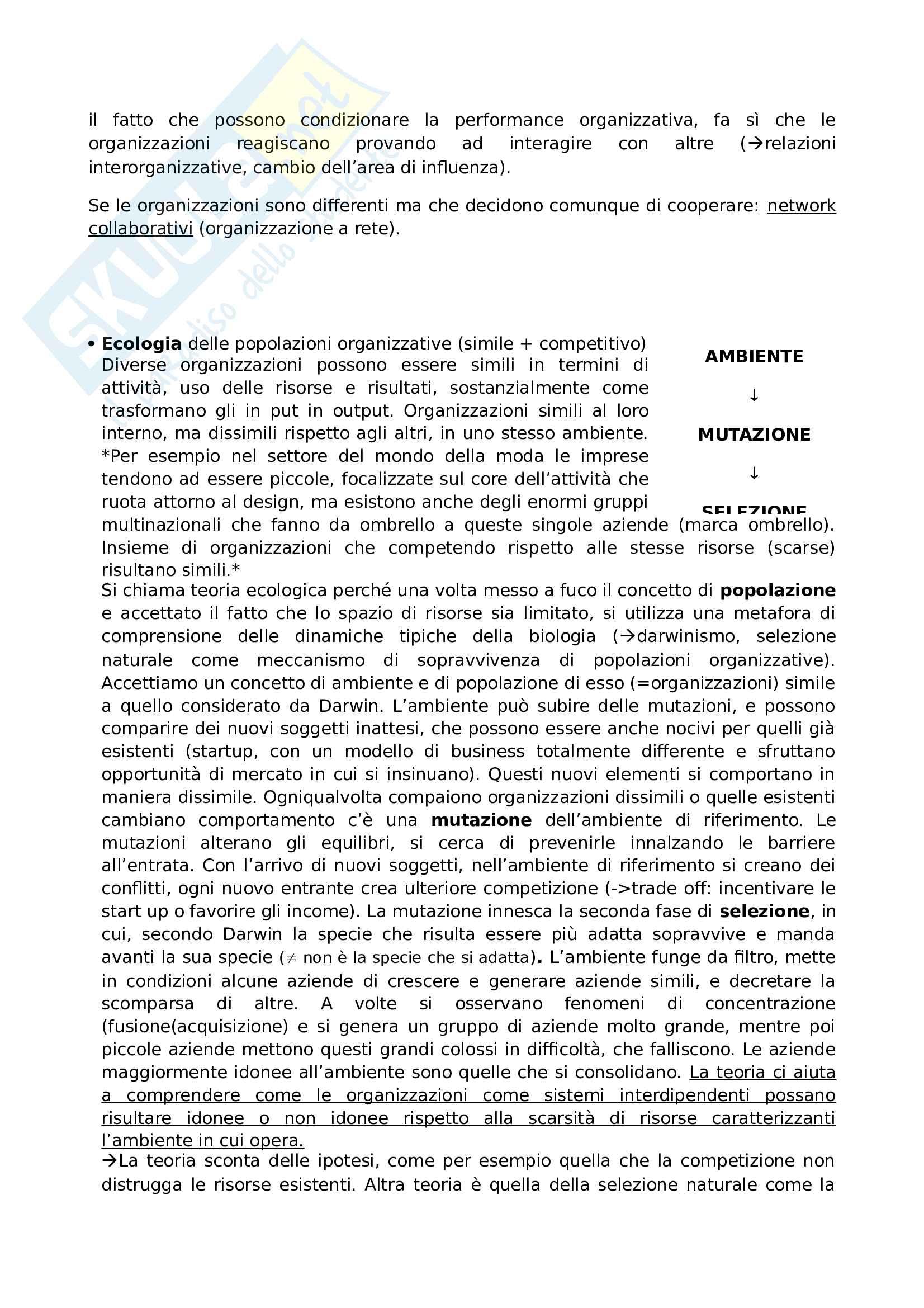 Riassunto esame organizzazione aziendale, prof. Giustiniano, libro consigliato Organizzazione aziendale, Richard L. Daft Pag. 36