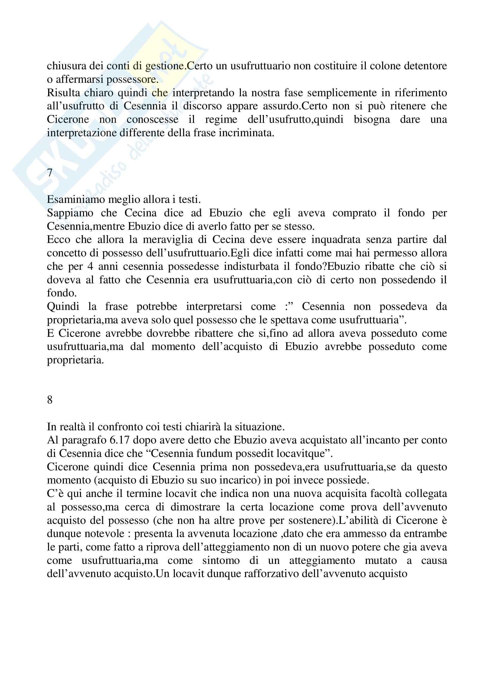 Riassunto esame Istituzioni di diritto romano, prof. La Rosa, libro consigliato Problemi possessori nell'esperienza giuridica romana, Nicosia Pag. 11