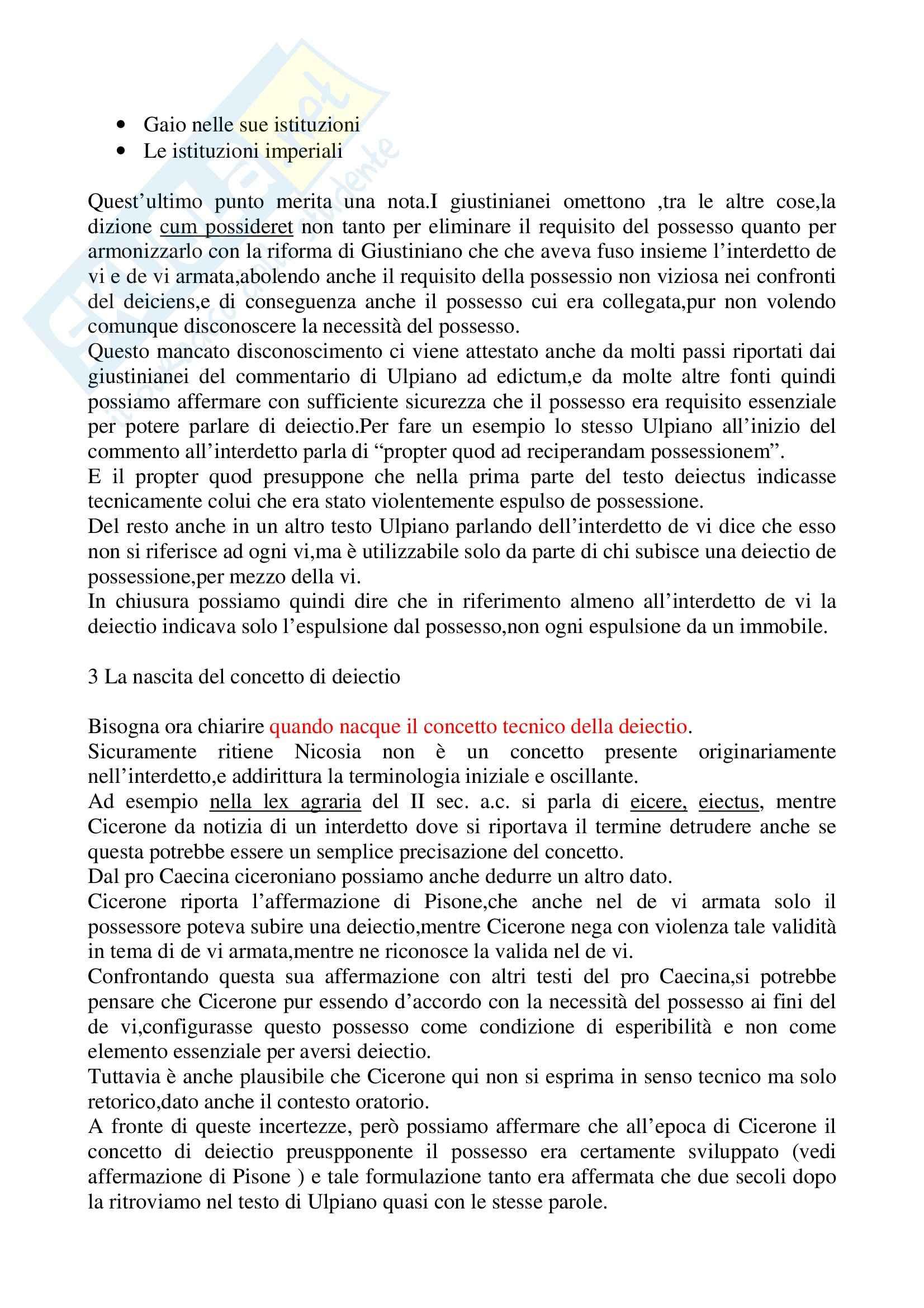 Riassunto esame Istituzioni di diritto romano, prof. La Rosa, libro consigliato Problemi possessori nell'esperienza giuridica romana, Nicosia Pag. 2