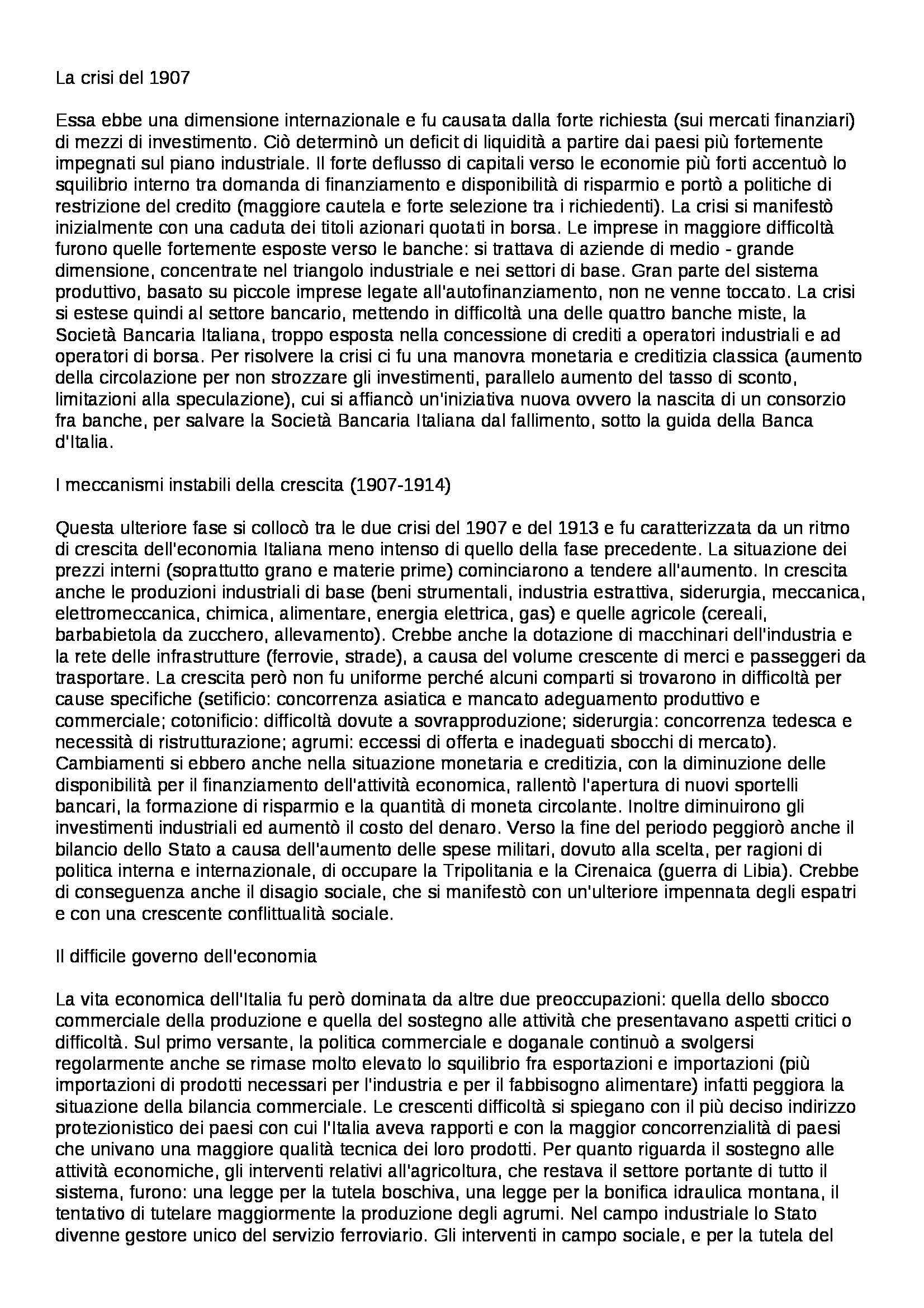 Riassunto esame Storia Economia - parte seconda, prof. Carera Pag. 6