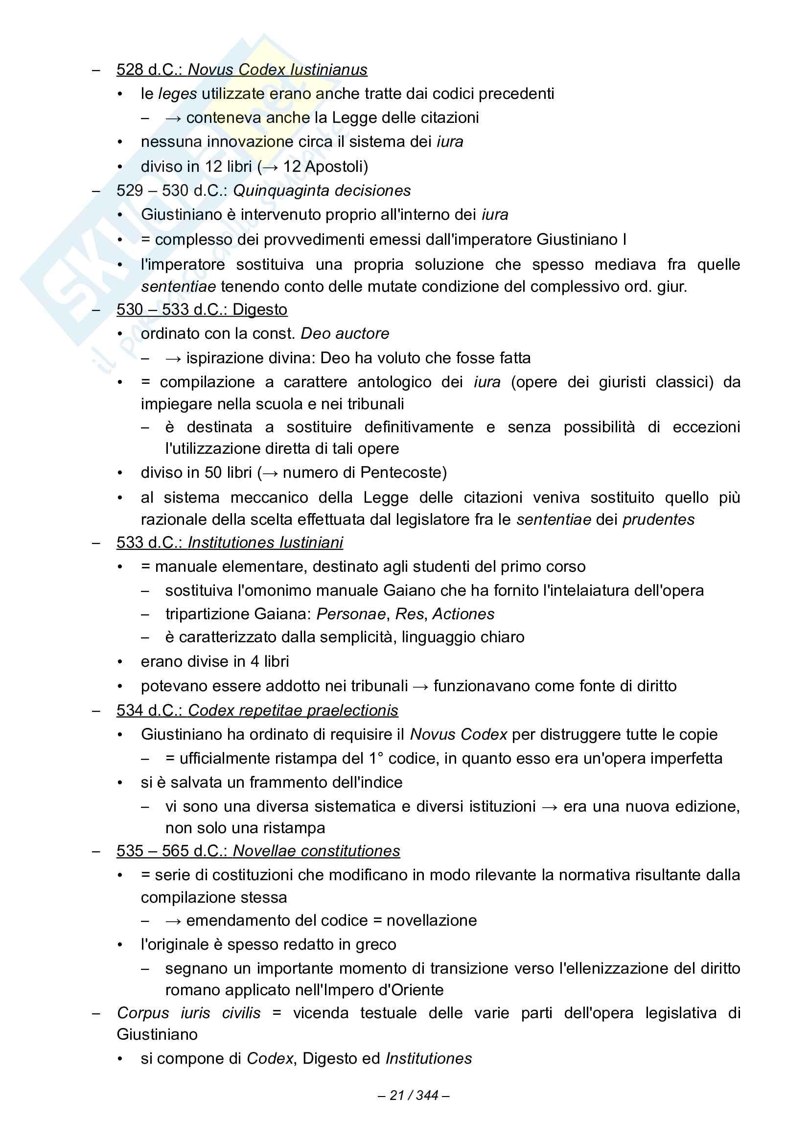 Riassunto esame Istituzioni di diritto romano, prof. Miglietta, libro consigliato Istituzioni di diritto romano,Talamanca Pag. 21