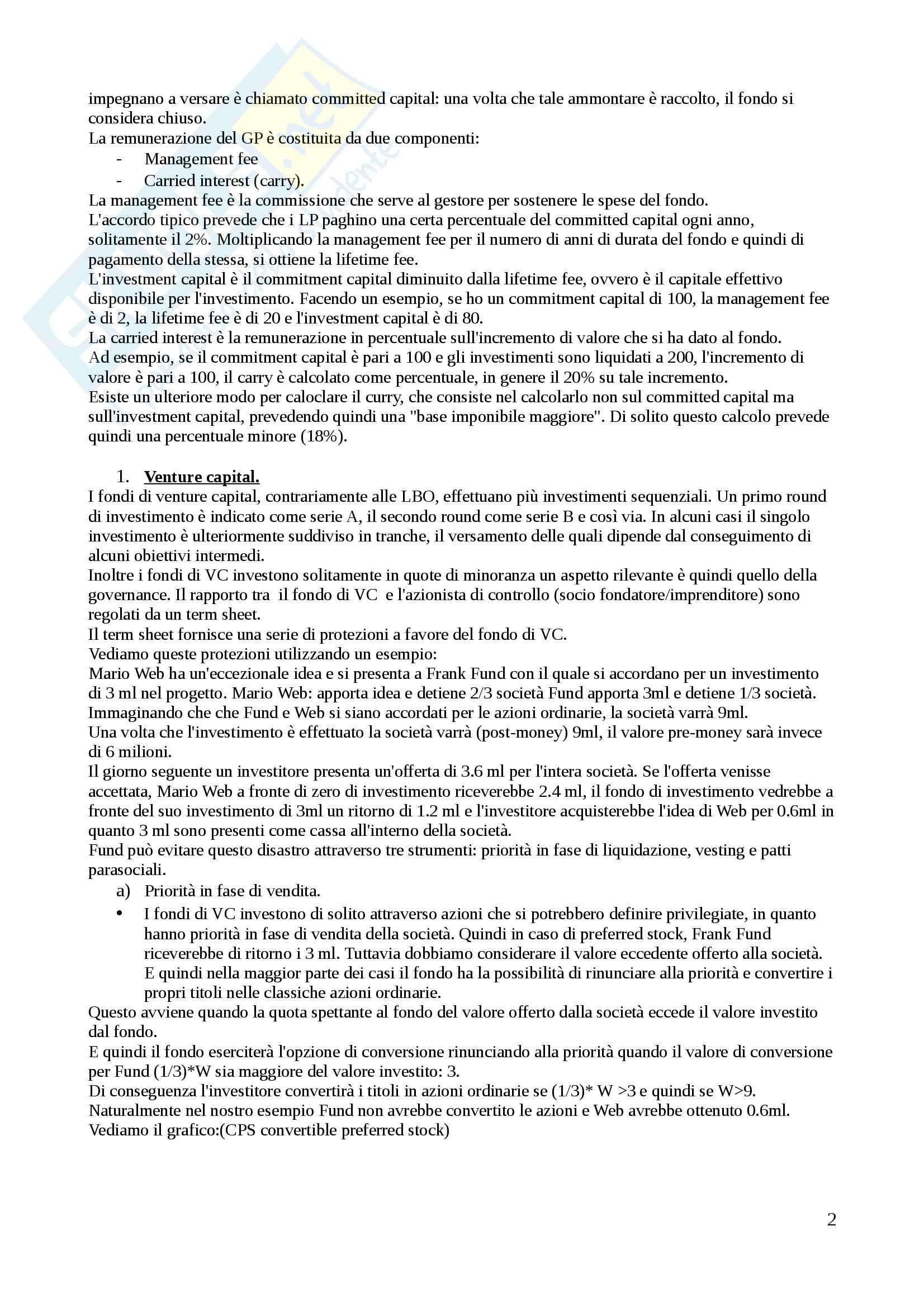 2 modulo finanziamenti d'impresa. Valido per il superamento del secondo parziale. libro consigliato Iannotta Giuliano Orlando Pag. 2