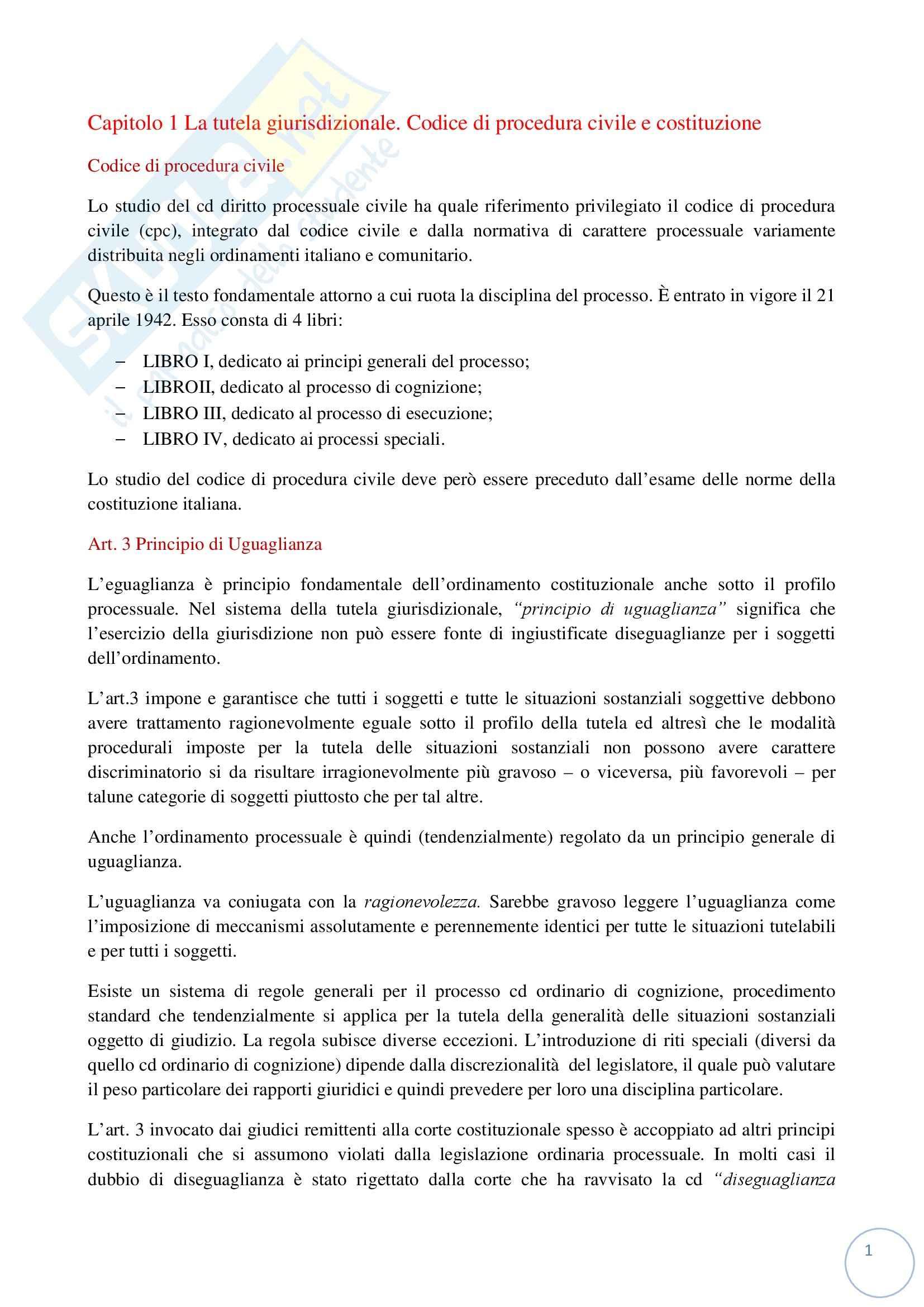 Riassunto esame Diritto Processuale Civile, prof. Tiscini, libro consigliato Lineamenti del Processo Civile Italiano, Sassani