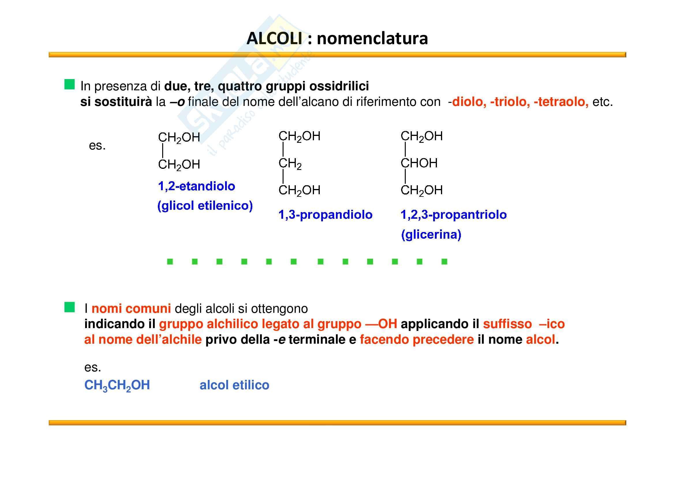 Chimica Organica: Alcoli Pag. 2