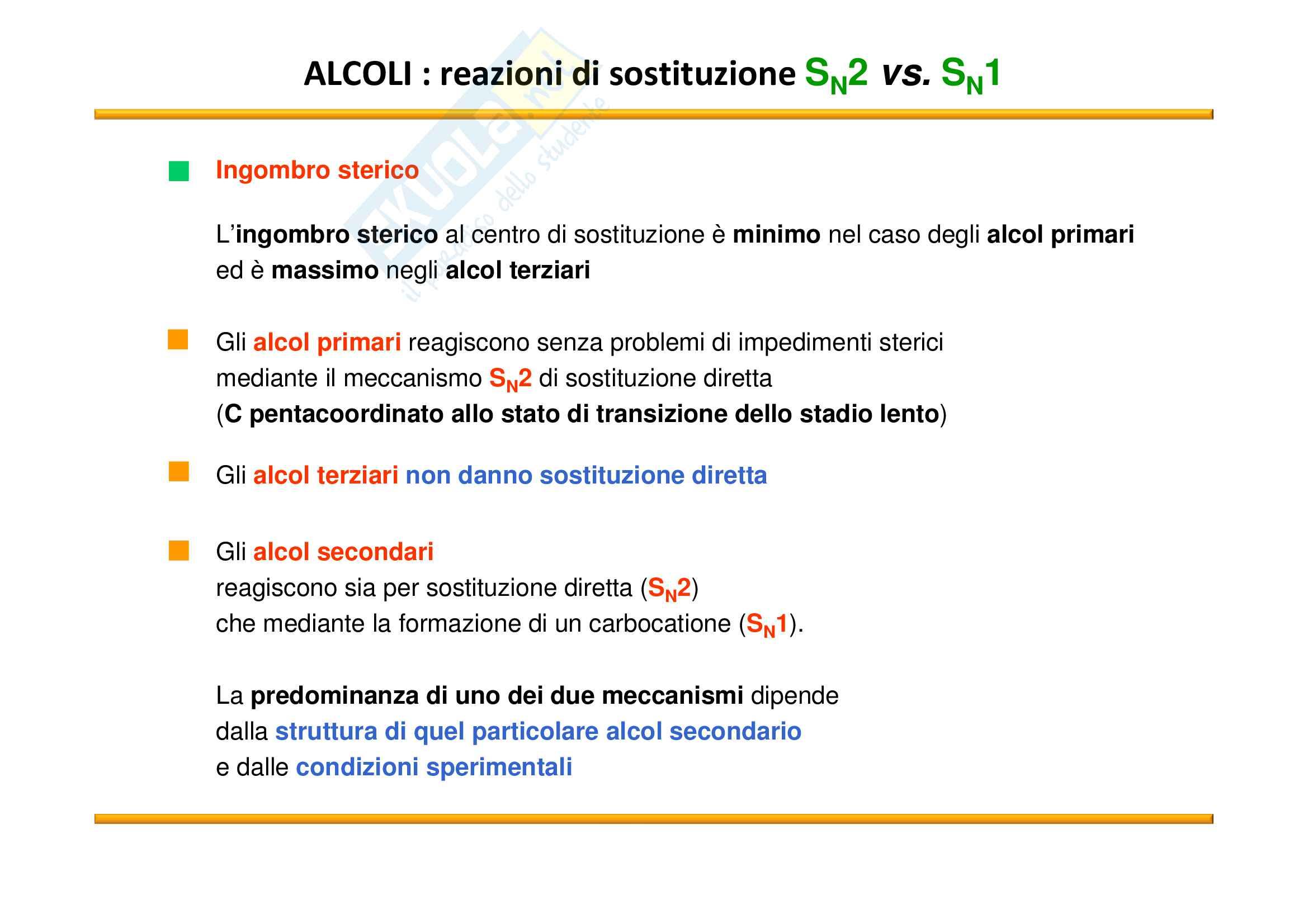 Chimica Organica: Alcoli Pag. 36