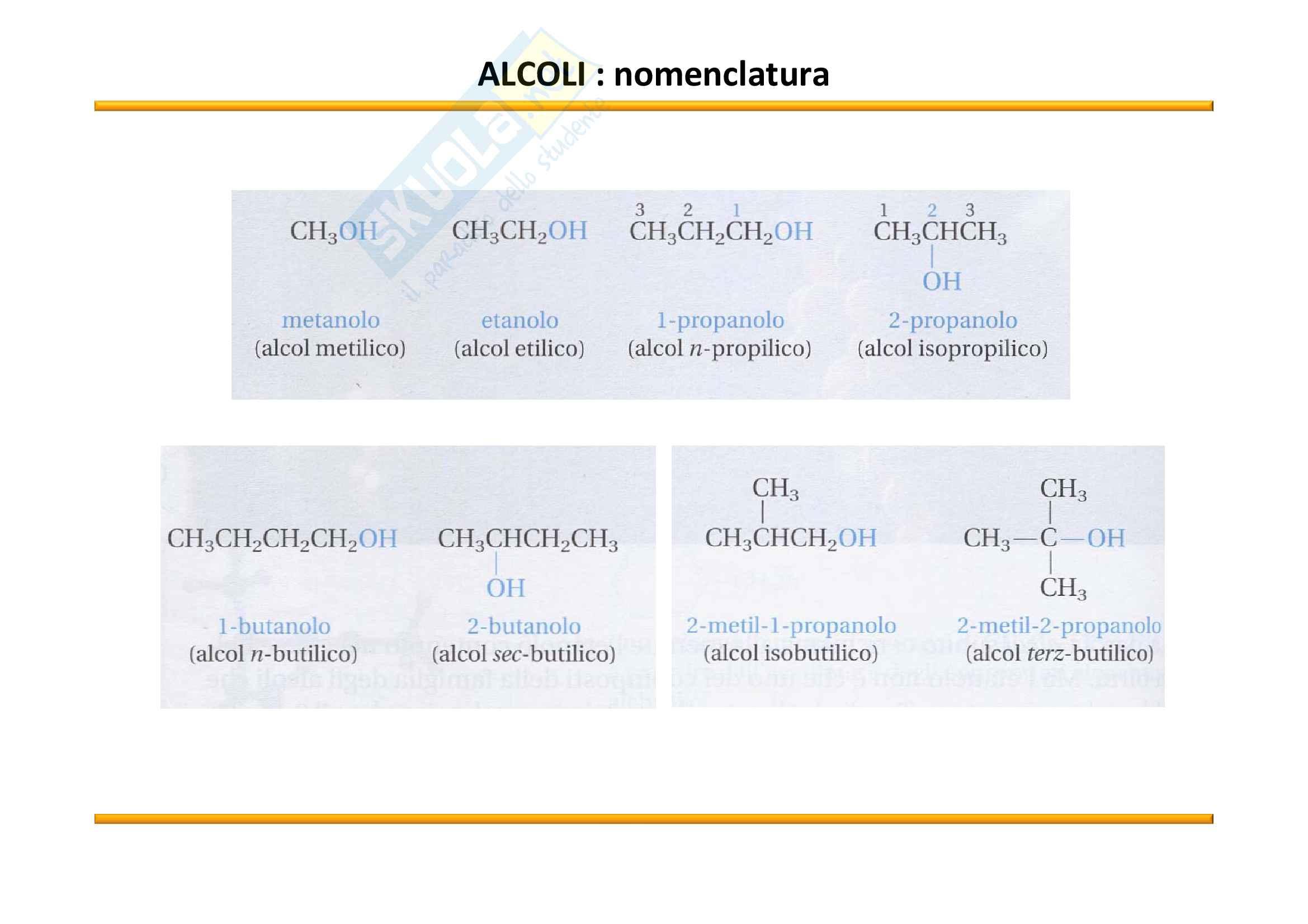 Chimica Organica: Alcoli Pag. 6