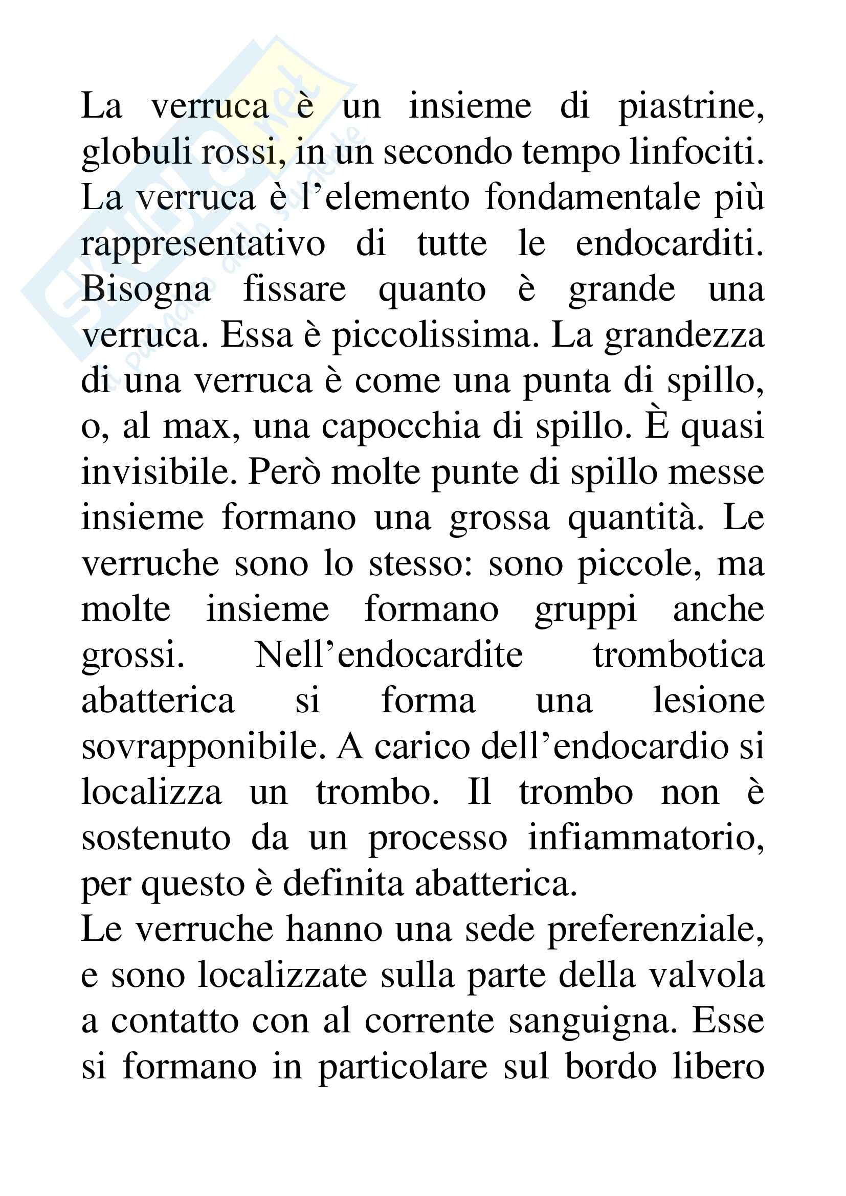 Anatomia patologica - Endocardite marantica Pag. 2