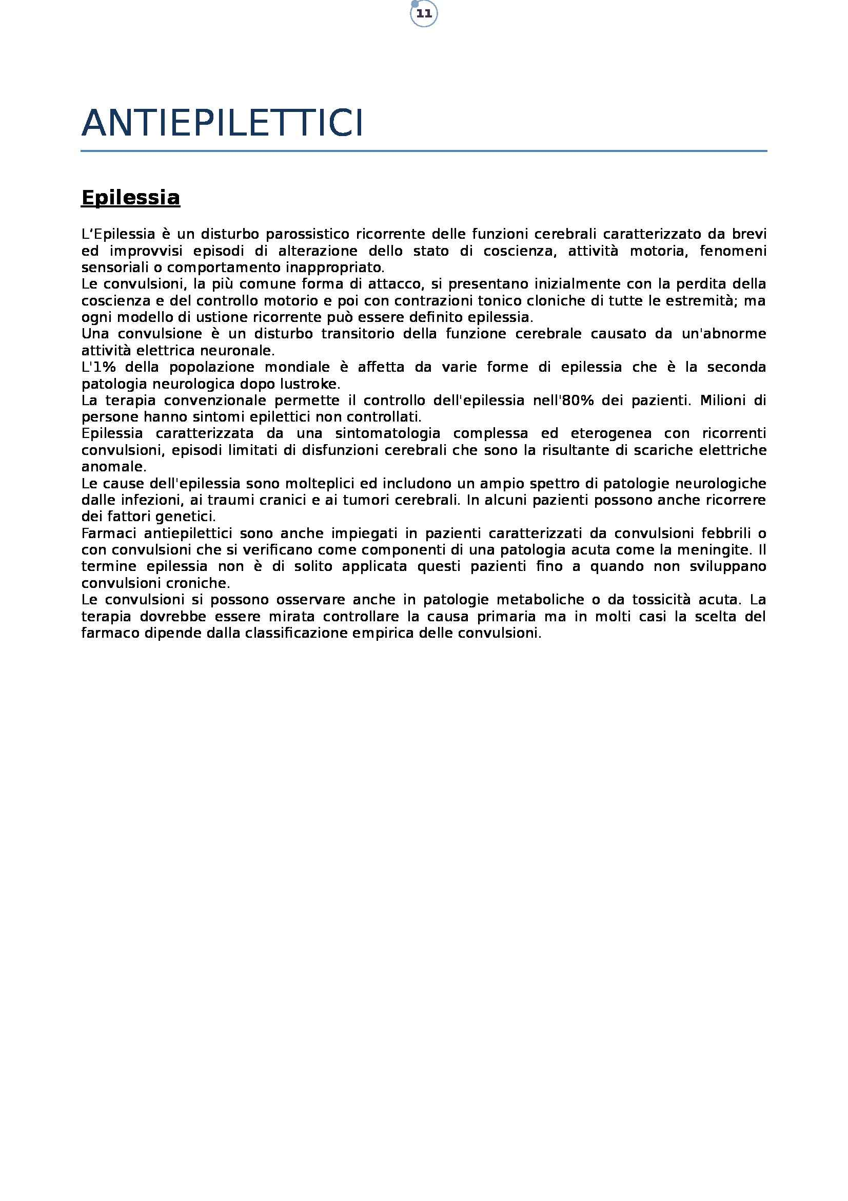 Farmacologia - antiepilettici