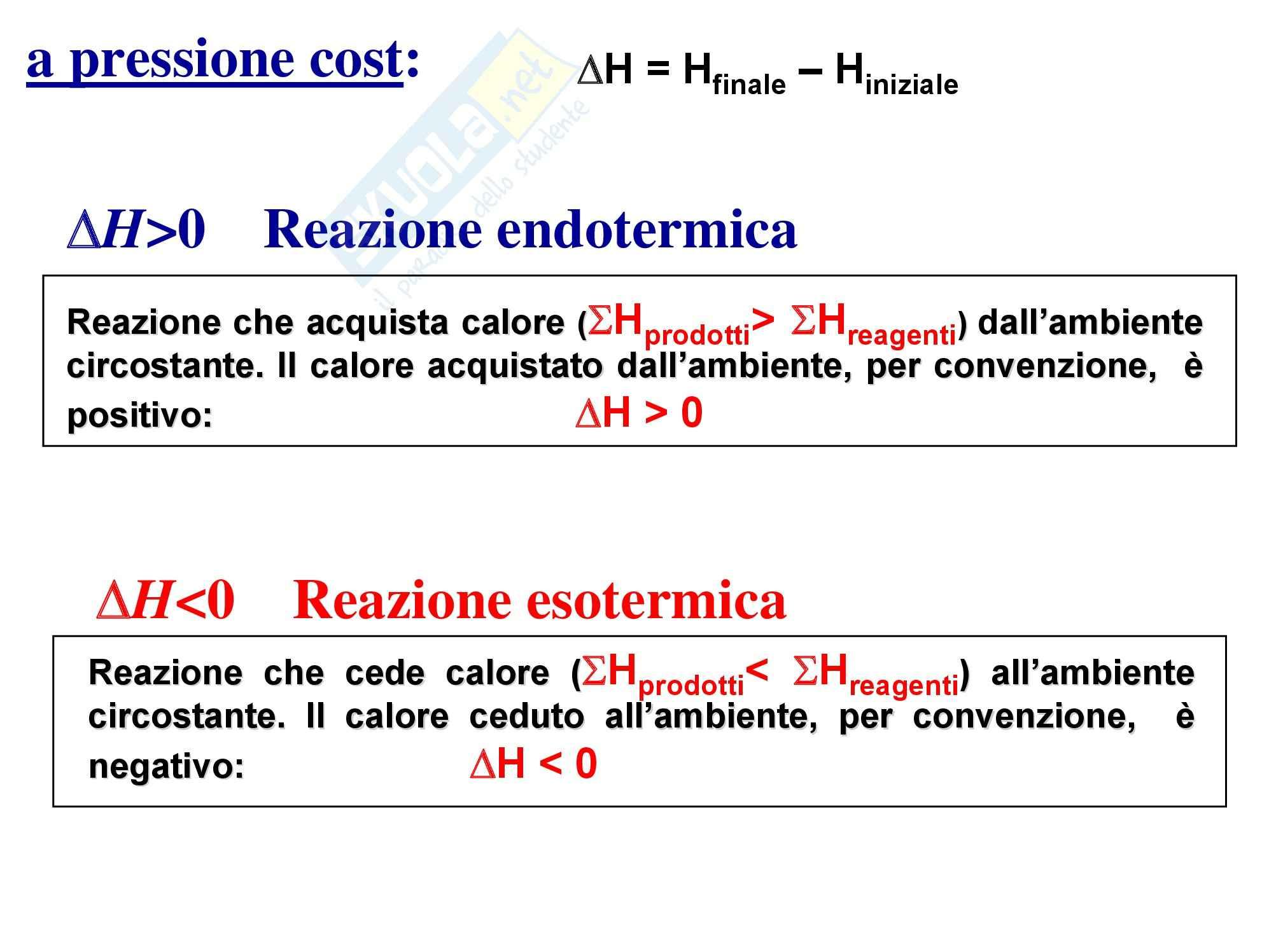 Chimica generale - il calore di reazione Pag. 2