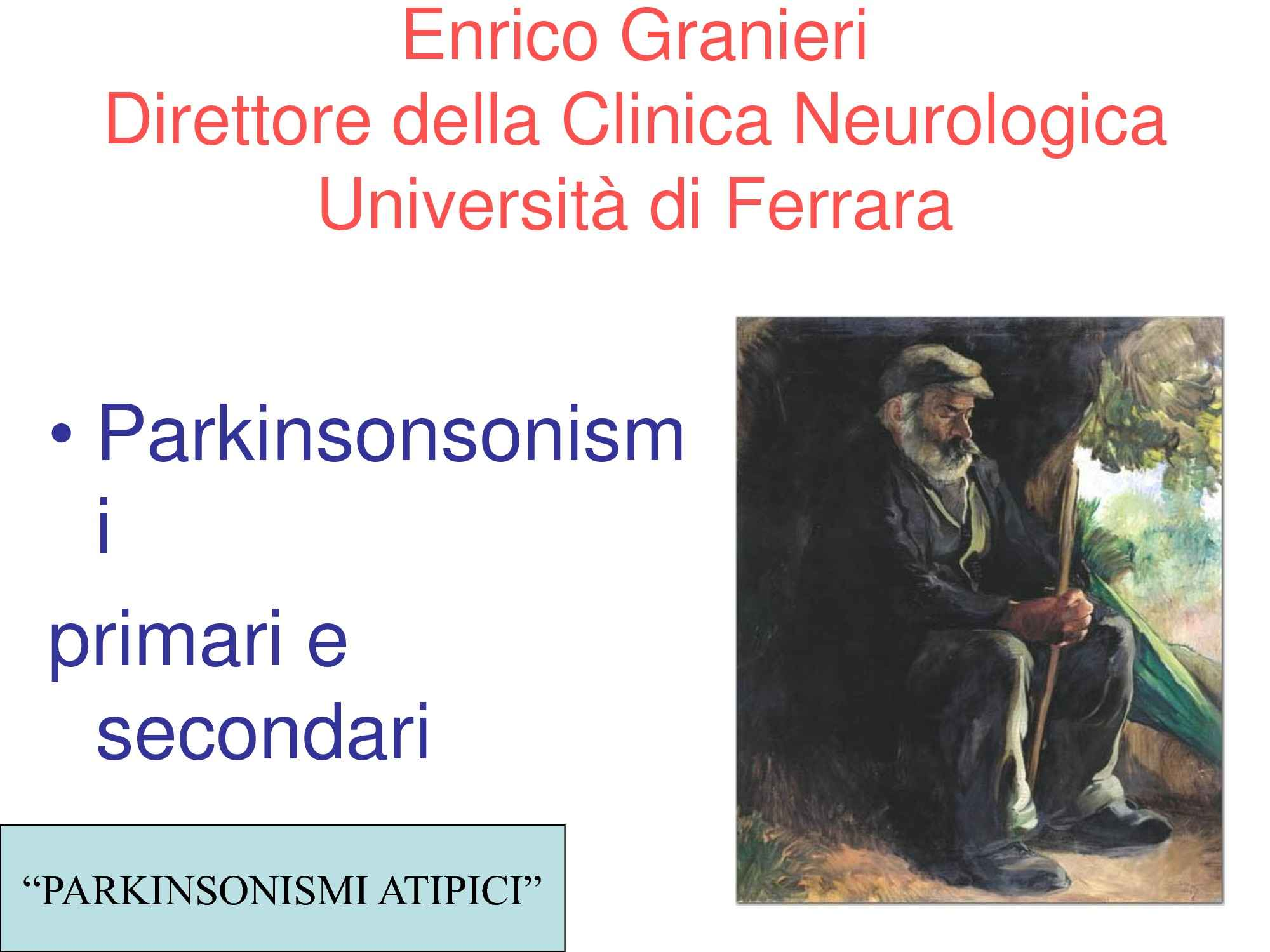 Parkinsonsonismi