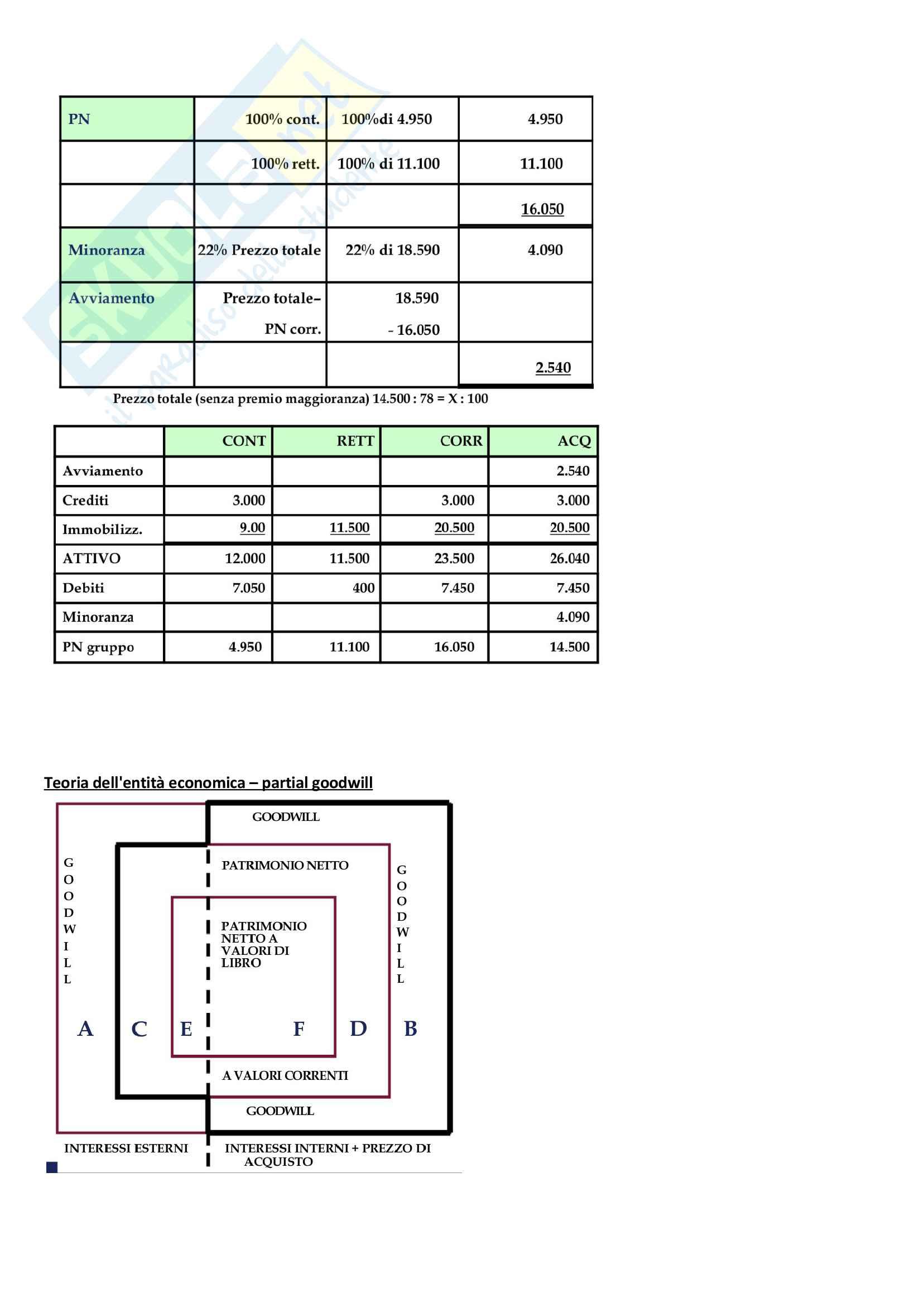Apppunti di Metodologie 2 (bilancio consolidato e analisi di bilancio) + temi d'esame svolti Pag. 11