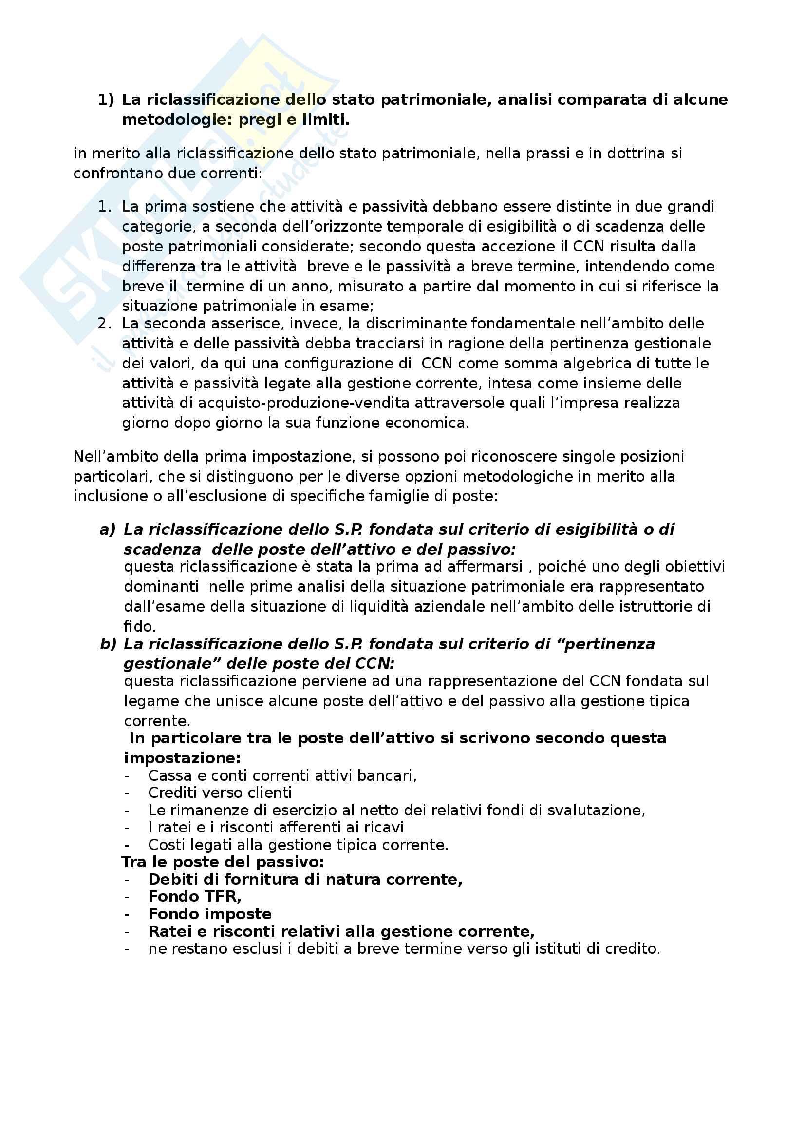 Apppunti di Metodologie 2 (bilancio consolidato e analisi di bilancio) + temi d'esame svolti Pag. 91
