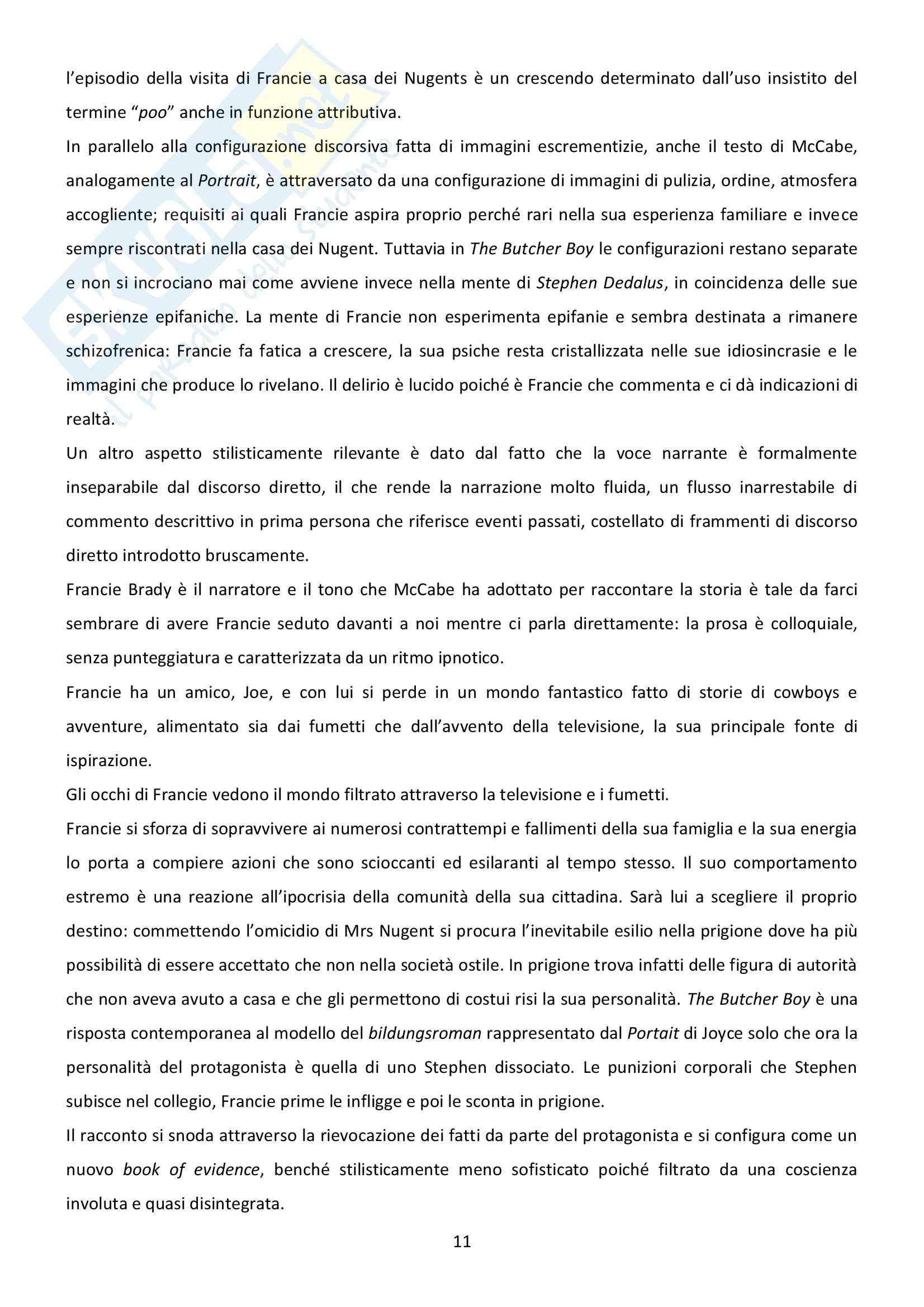 Riassunto esame Letteratura inglese, prof. Bendelli, libro consigliato La Veglia di Joyce Pag. 11