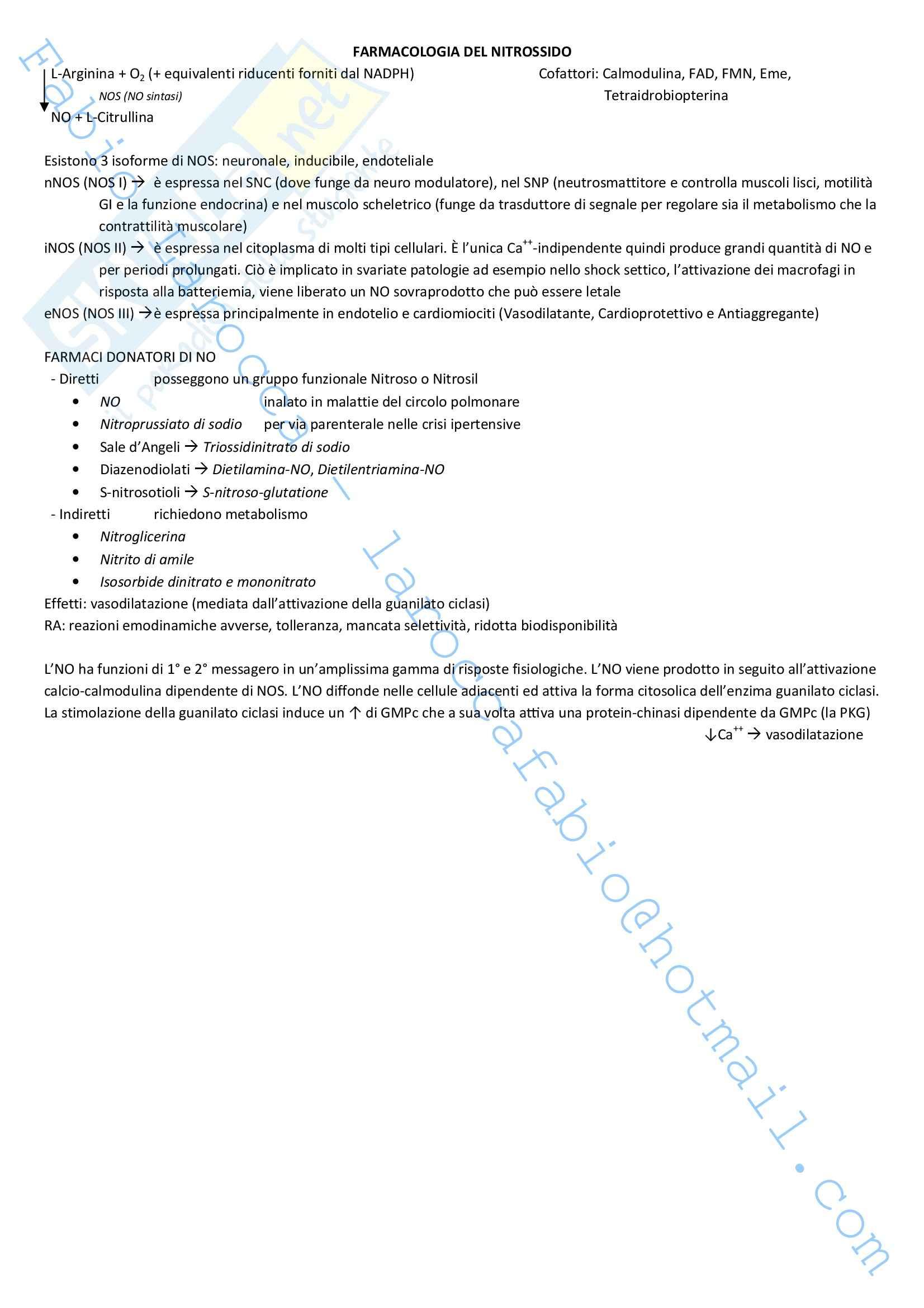 Riassunto esame Farmacologia, prof. Rossi, libro consigliato Farmacologia