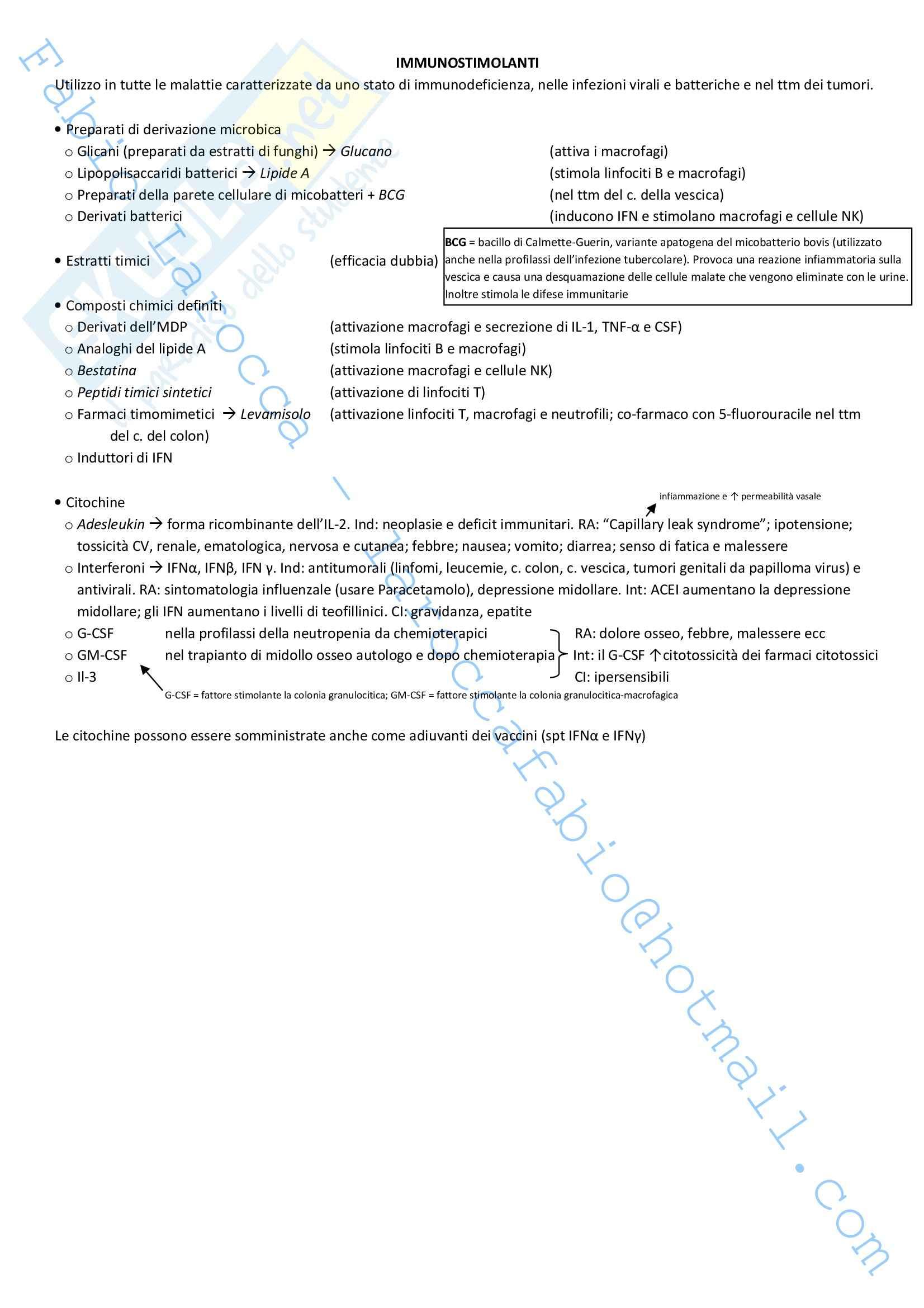 Riassunto esame Farmacologia, prof. Rossi, libro consigliato Farmacologia Pag. 86