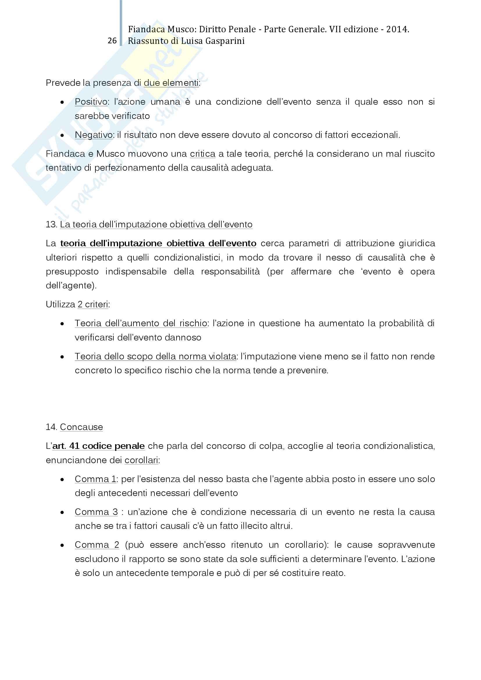 Riassunto esame Diritto Penale I, professor Prosdocimi, libro consigliato Diritto Penale Parte Generale, Fiandaca Musco Pag. 26