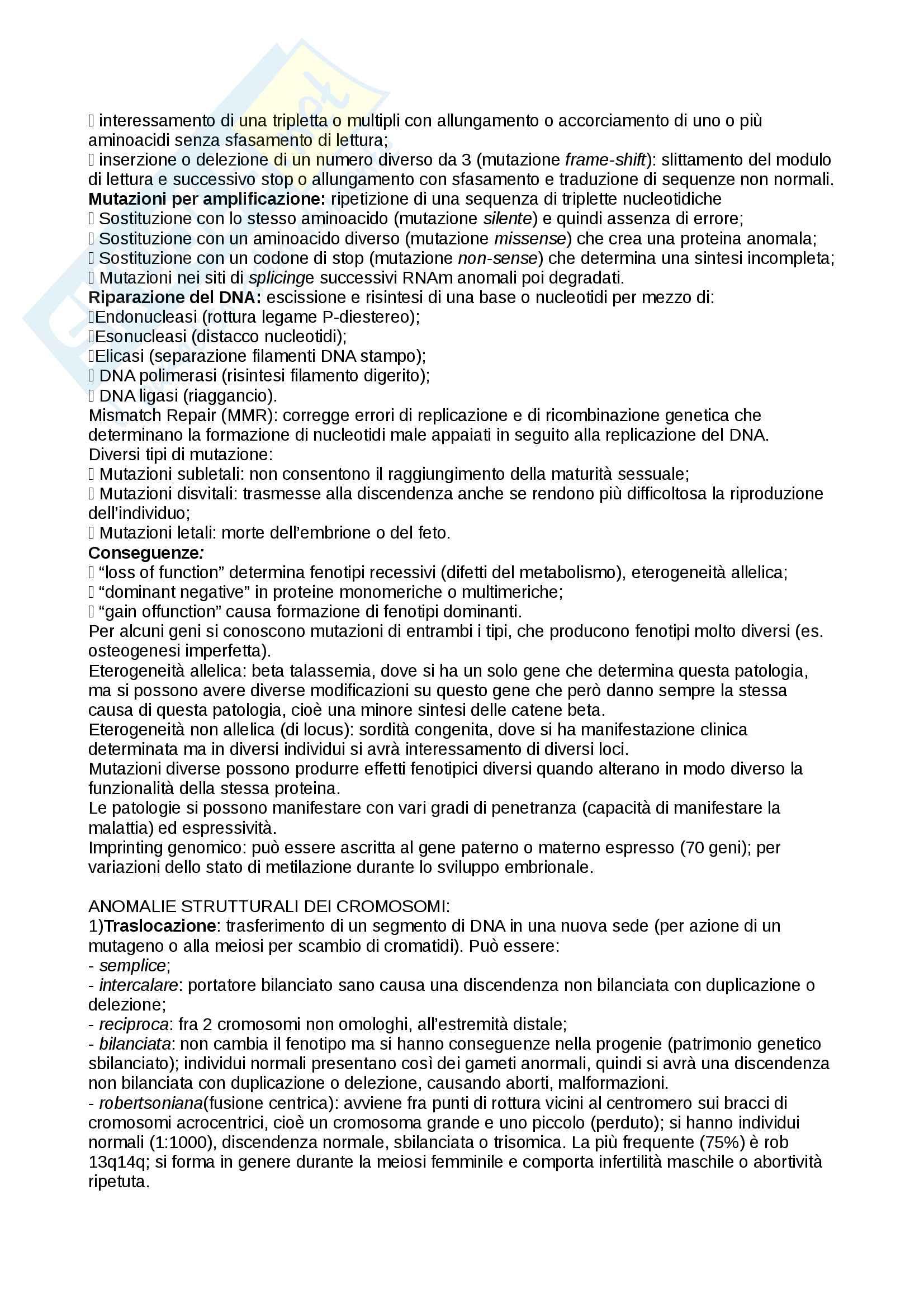 Malattie genetiche Pag. 2