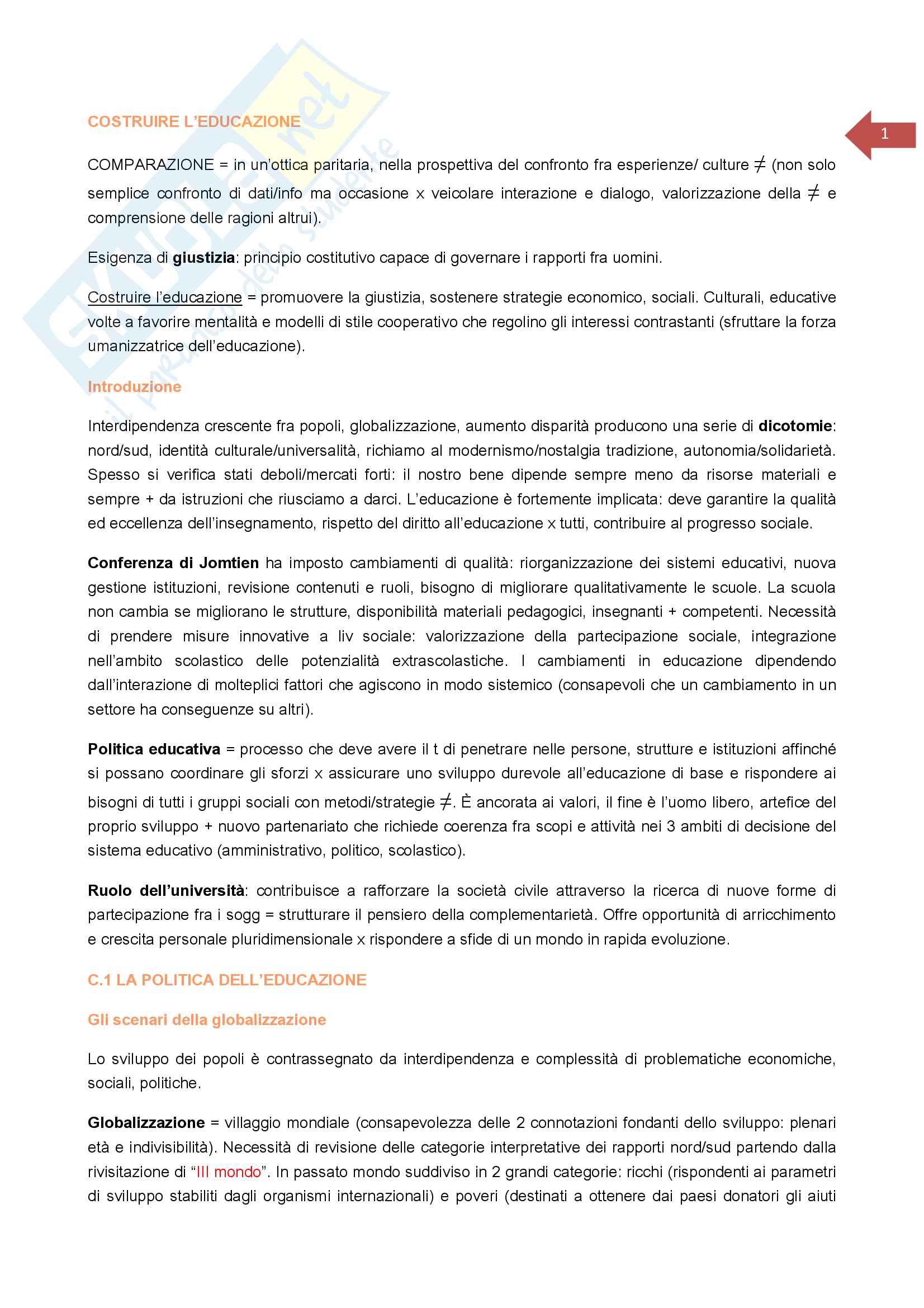 appunto S. Gandolfi Educazione comparata