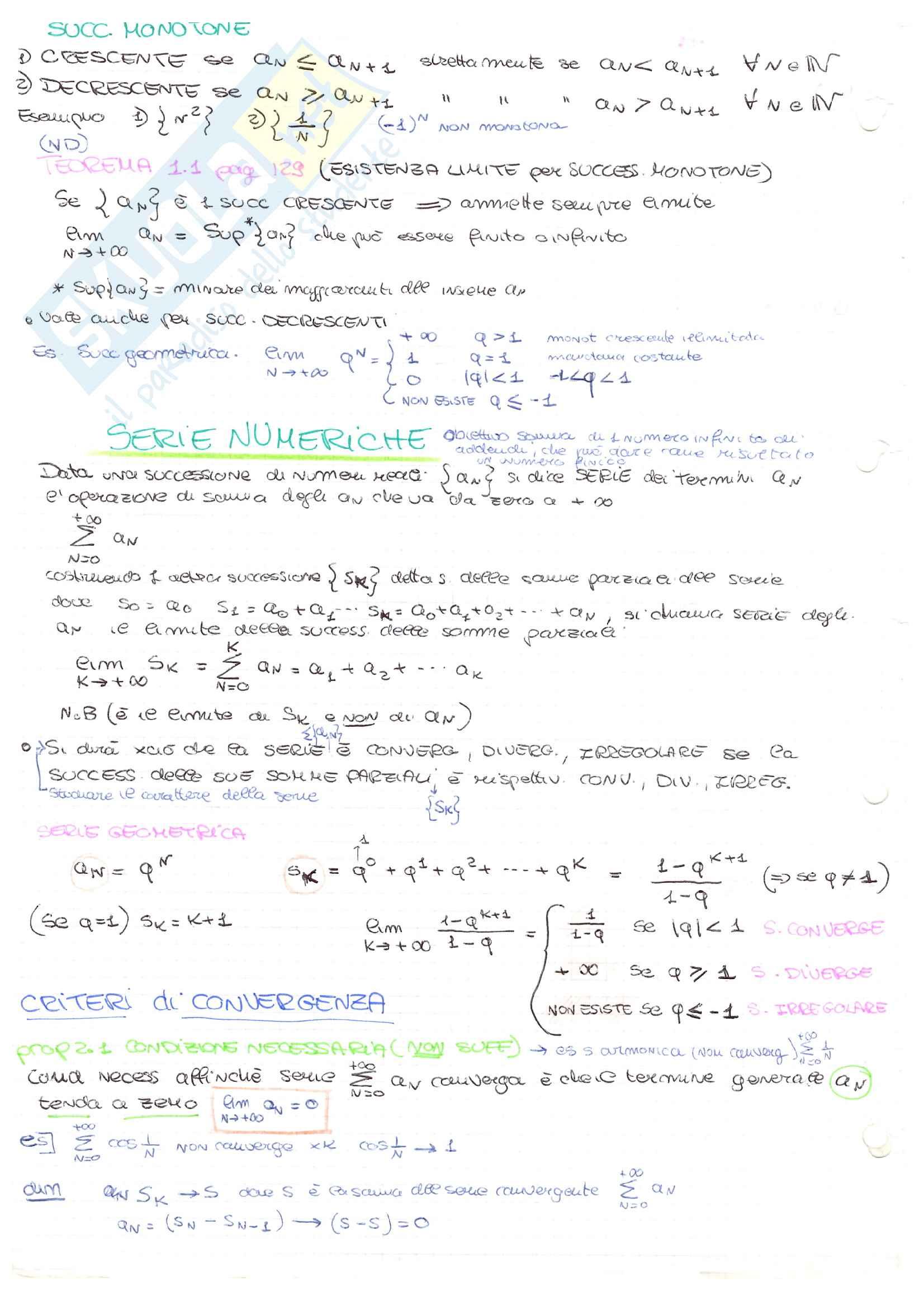 Analisi matematica 2 Pag. 2