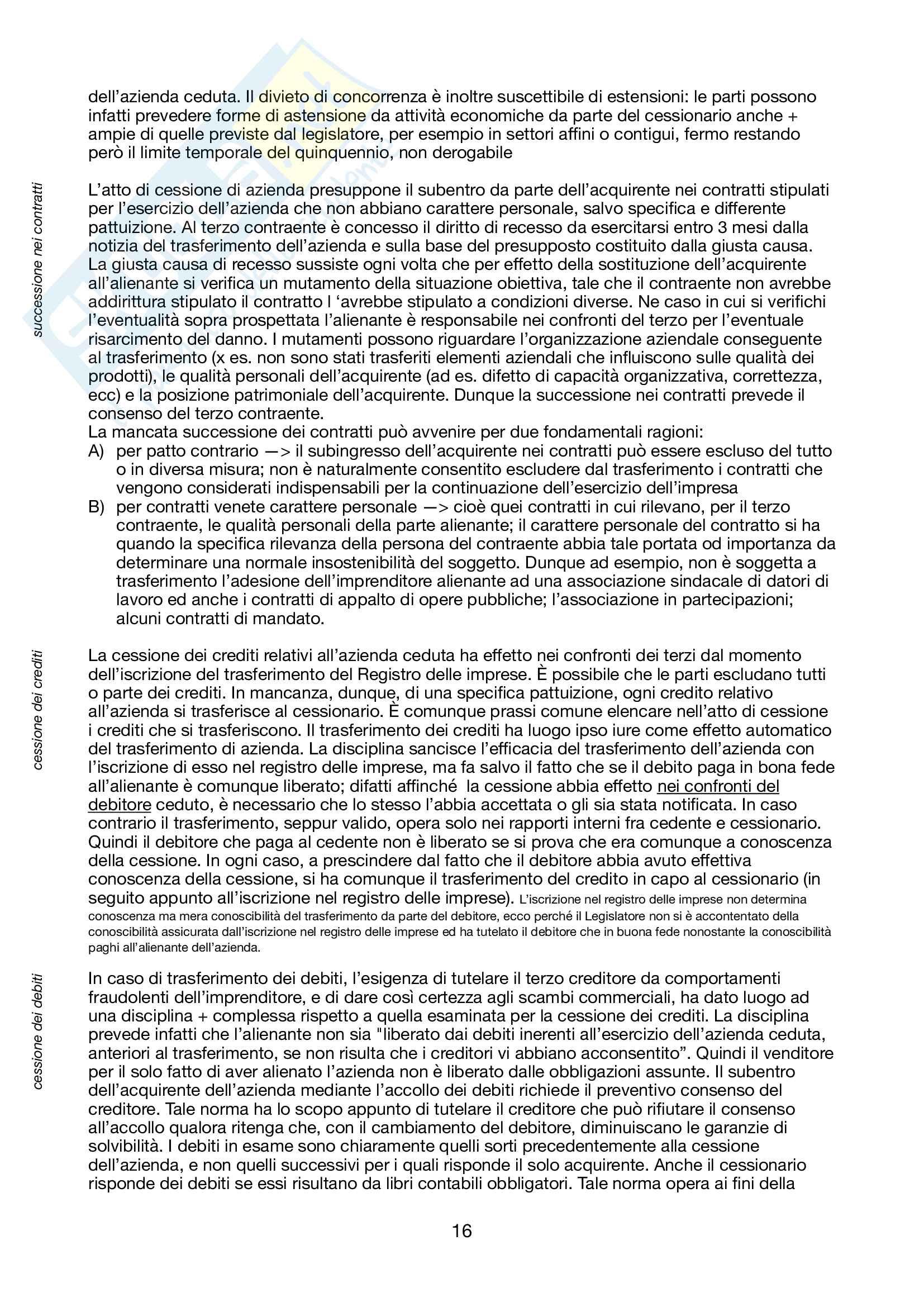 Riassunto esame di Operazioni di Gestione Straordinaria, prof Savioli, libro consigliato Le operazioni di gestione straordinaria, Savioli Pag. 16