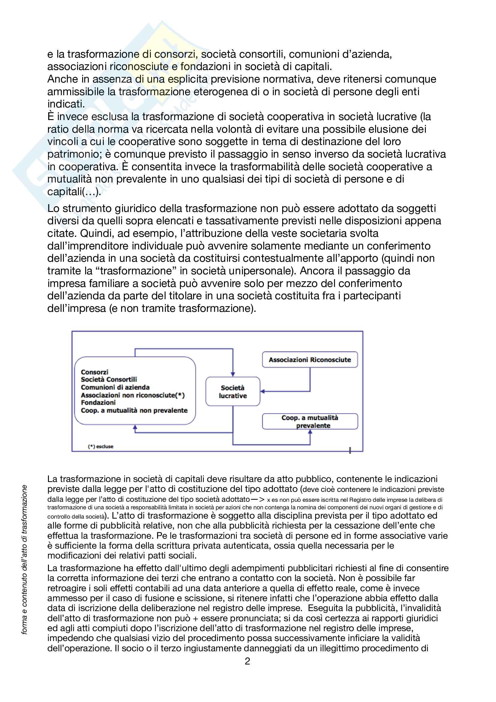 Riassunto esame di Operazioni di Gestione Straordinaria, prof Savioli, libro consigliato Le operazioni di gestione straordinaria, Savioli Pag. 2