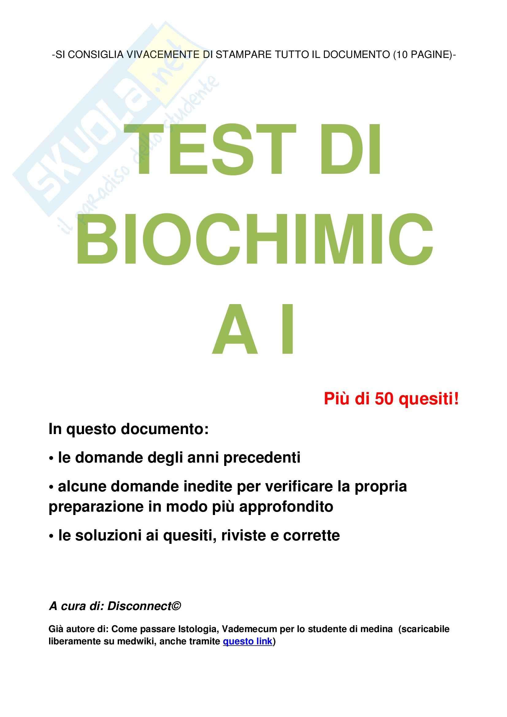 Biochimica I