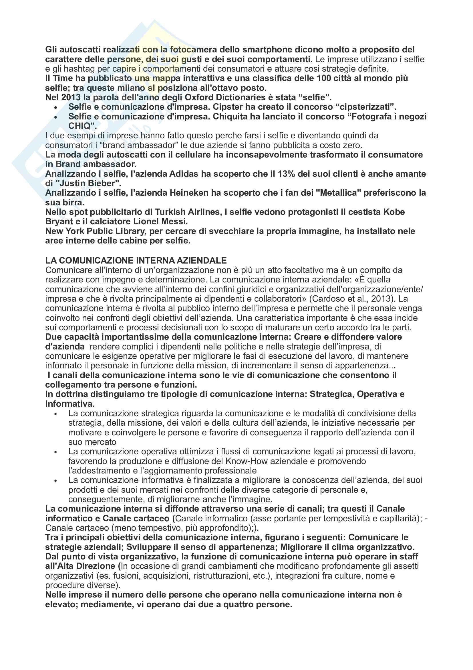 Riassunto Strategie di comunicazione d'impresa Pag. 31