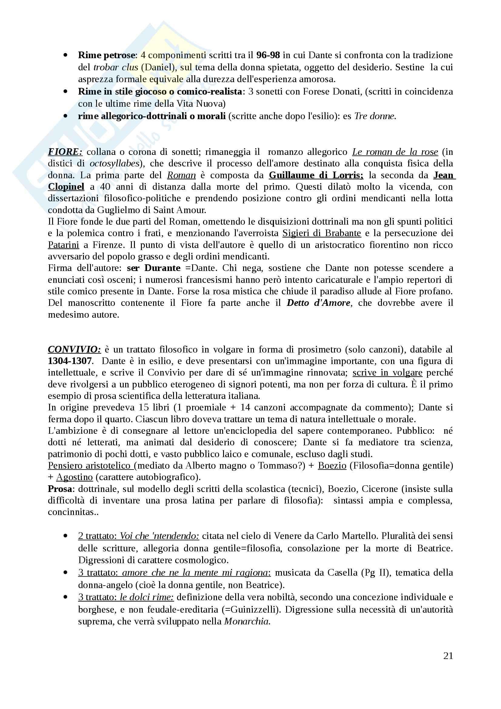 Riassunto esame Letteratura italiana I, prof. Frasso, libro consigliato Letteratura italiana delle origini, Contini Pag. 21
