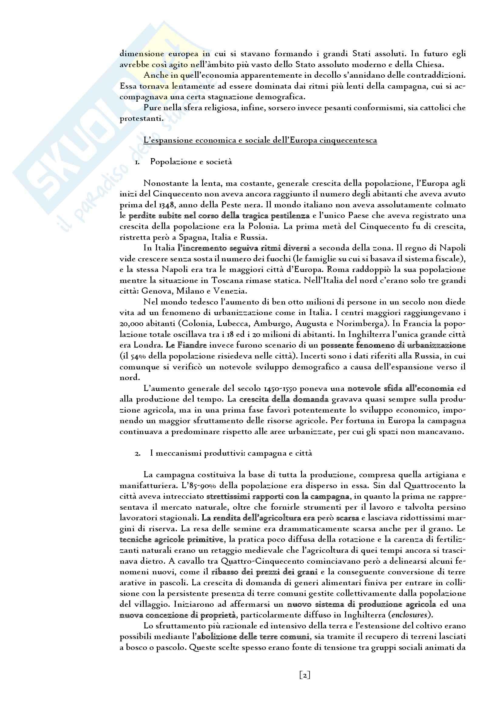 Riassunto esame Storia moderna, prof. Carpanetto, libro consigliato Manuale di storia moderna, Ricuperati, Ieva ( volume 1) Pag. 2