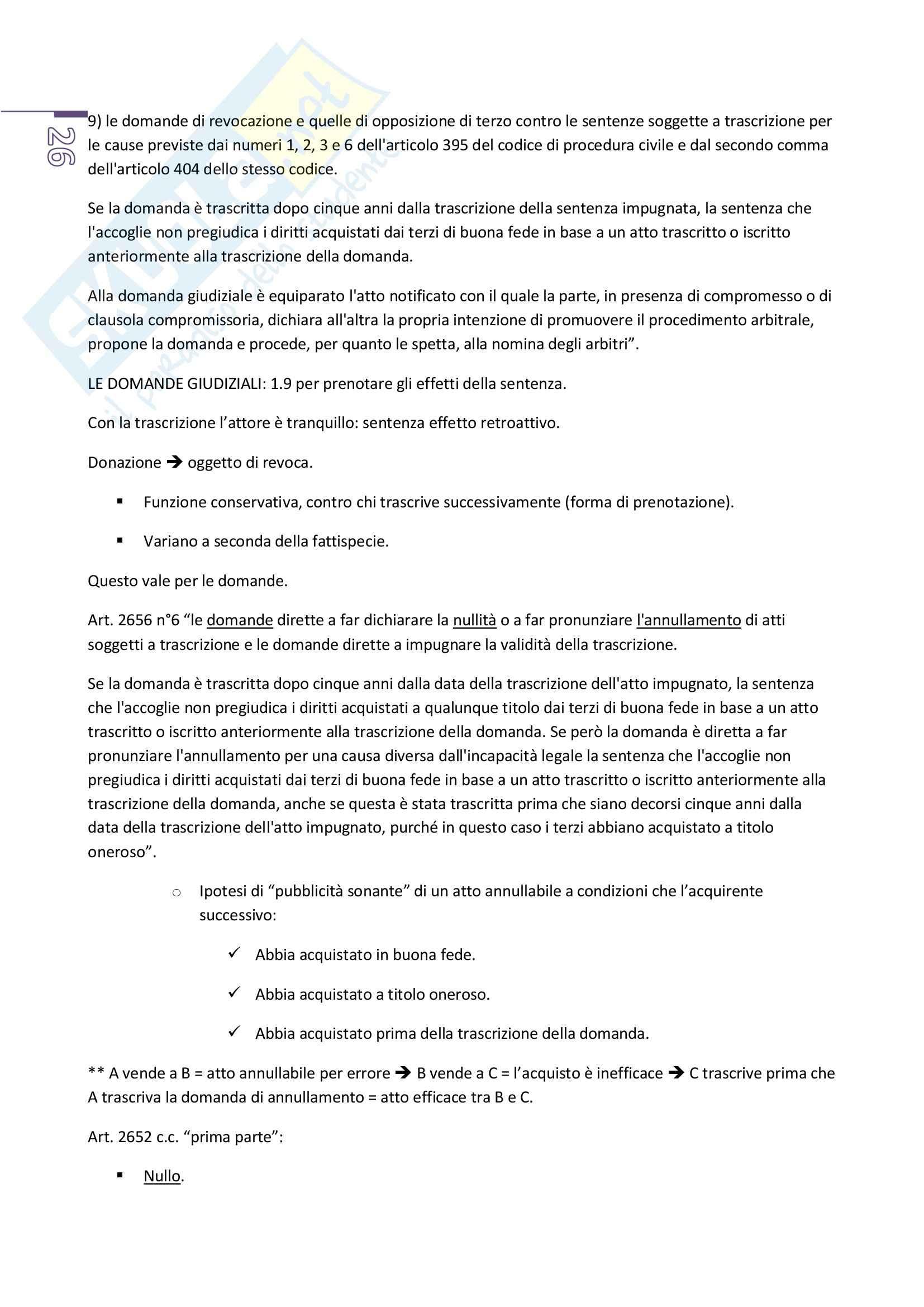 Appunti di diritto privato 2, prof. Benacchio (unitn) Pag. 26