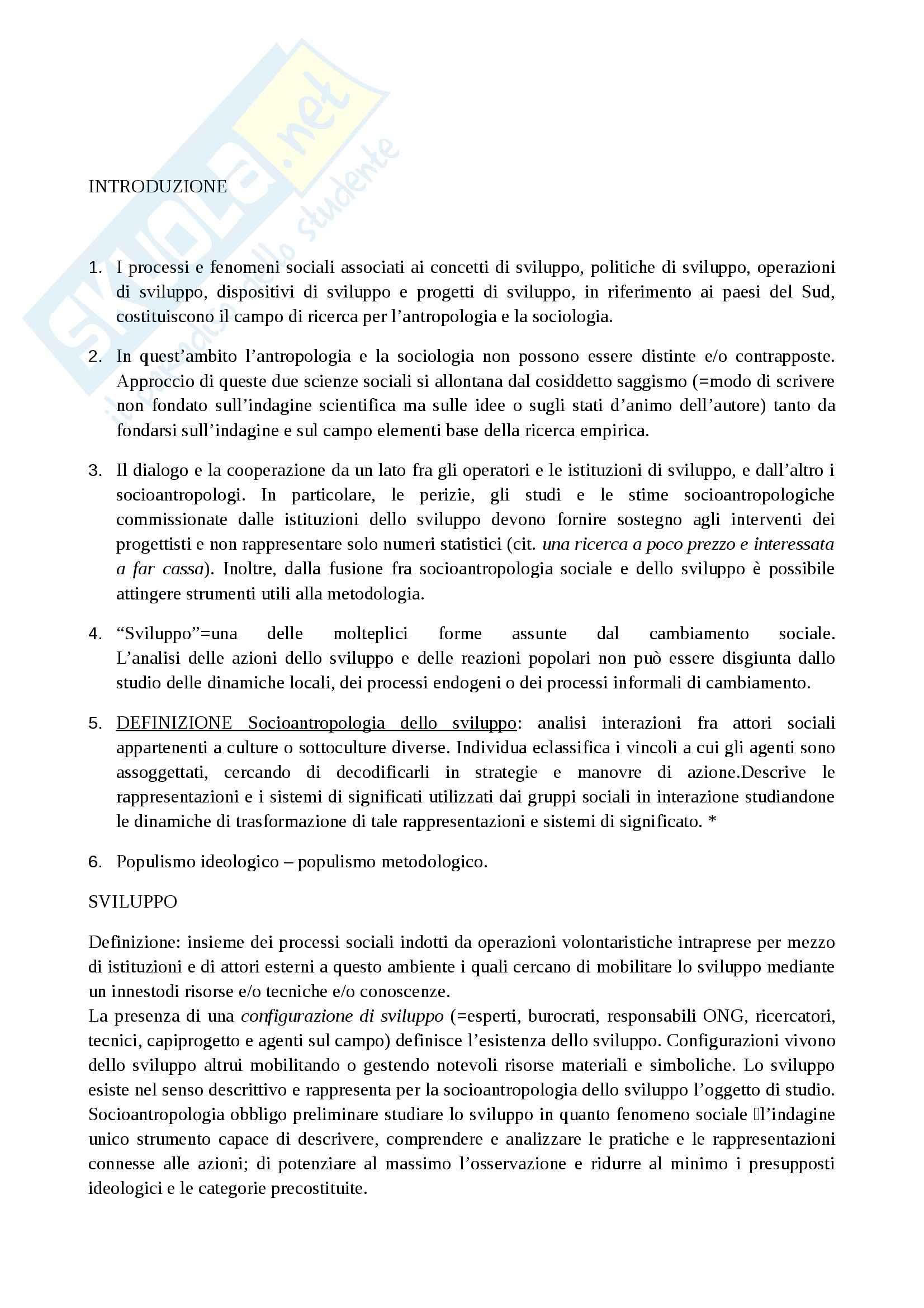 Riassunto esame Antropologia, prof. Paltrinieri, libro consigliato Saggio sul cambiamento sociale, de Sardan