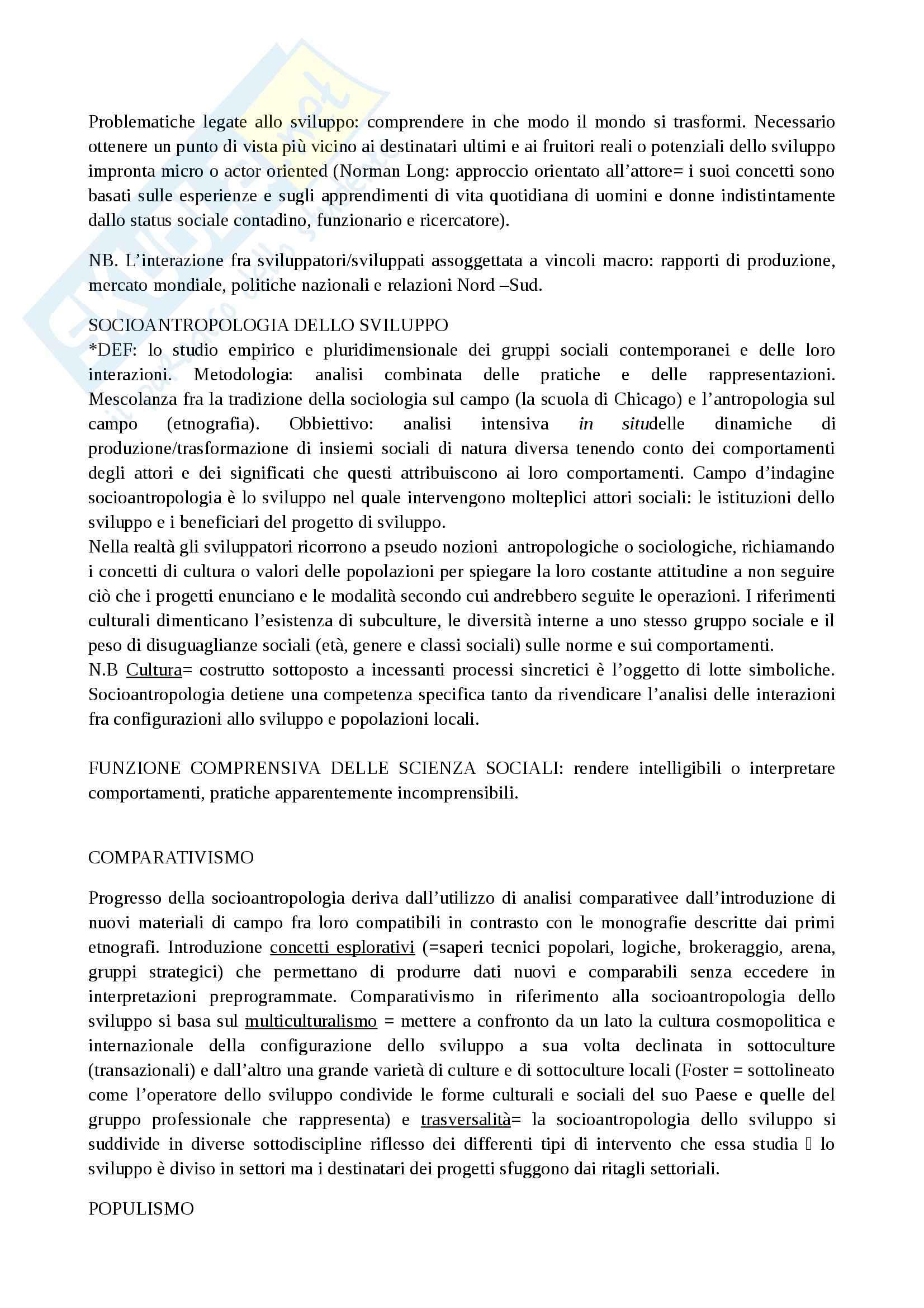 Riassunto esame Antropologia, prof. Paltrinieri, libro consigliato Saggio sul cambiamento sociale, de Sardan Pag. 2