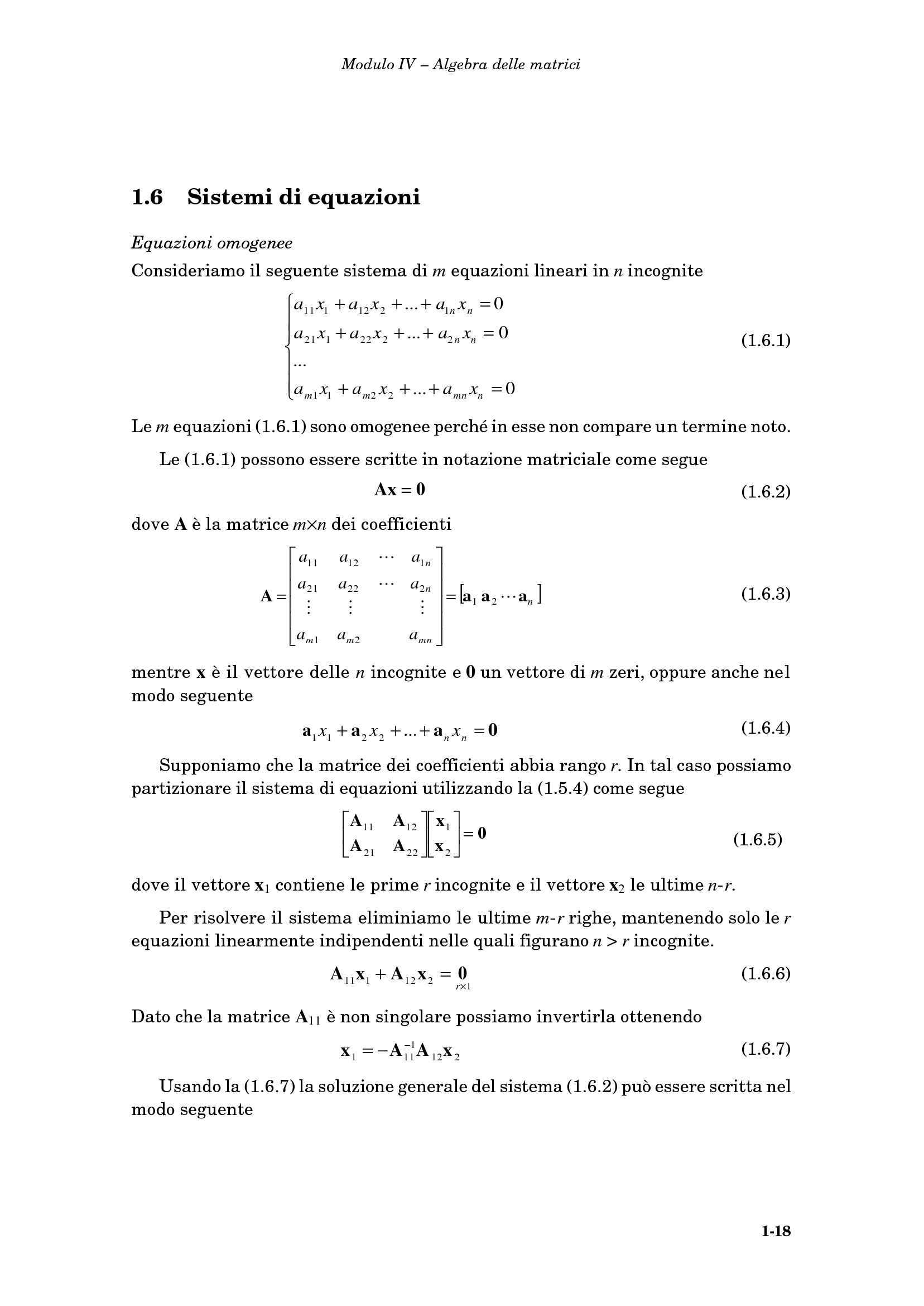 Sistemi di equazioni