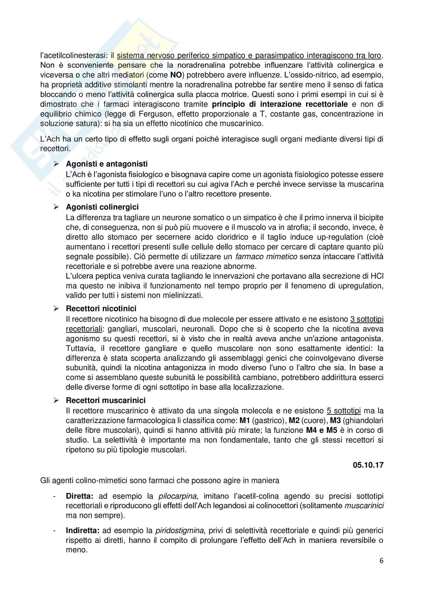 Appunti di Farmacologia e Farmacoterapia Pag. 6