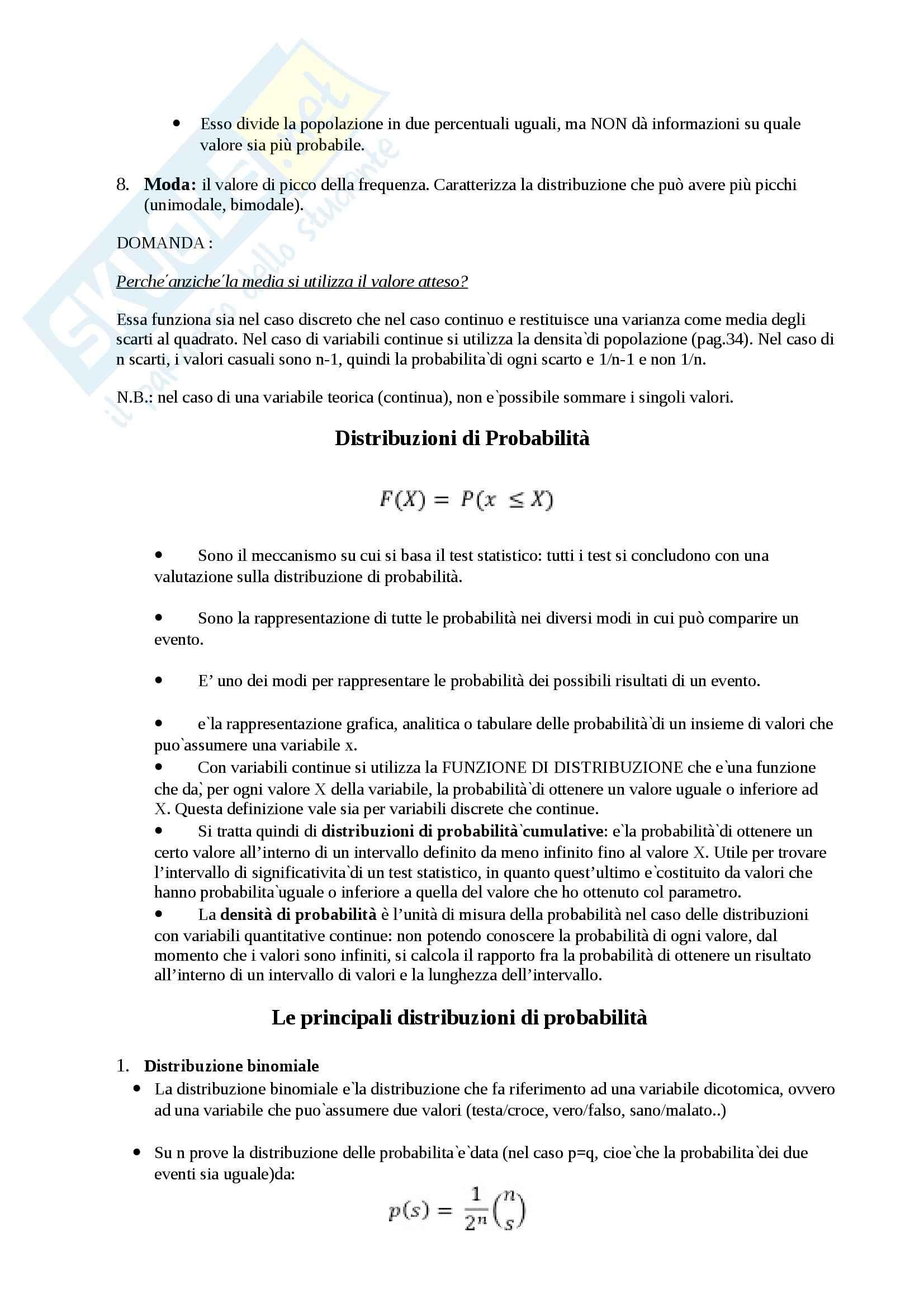 Lezioni, Statistica Psicometrica Pag. 6