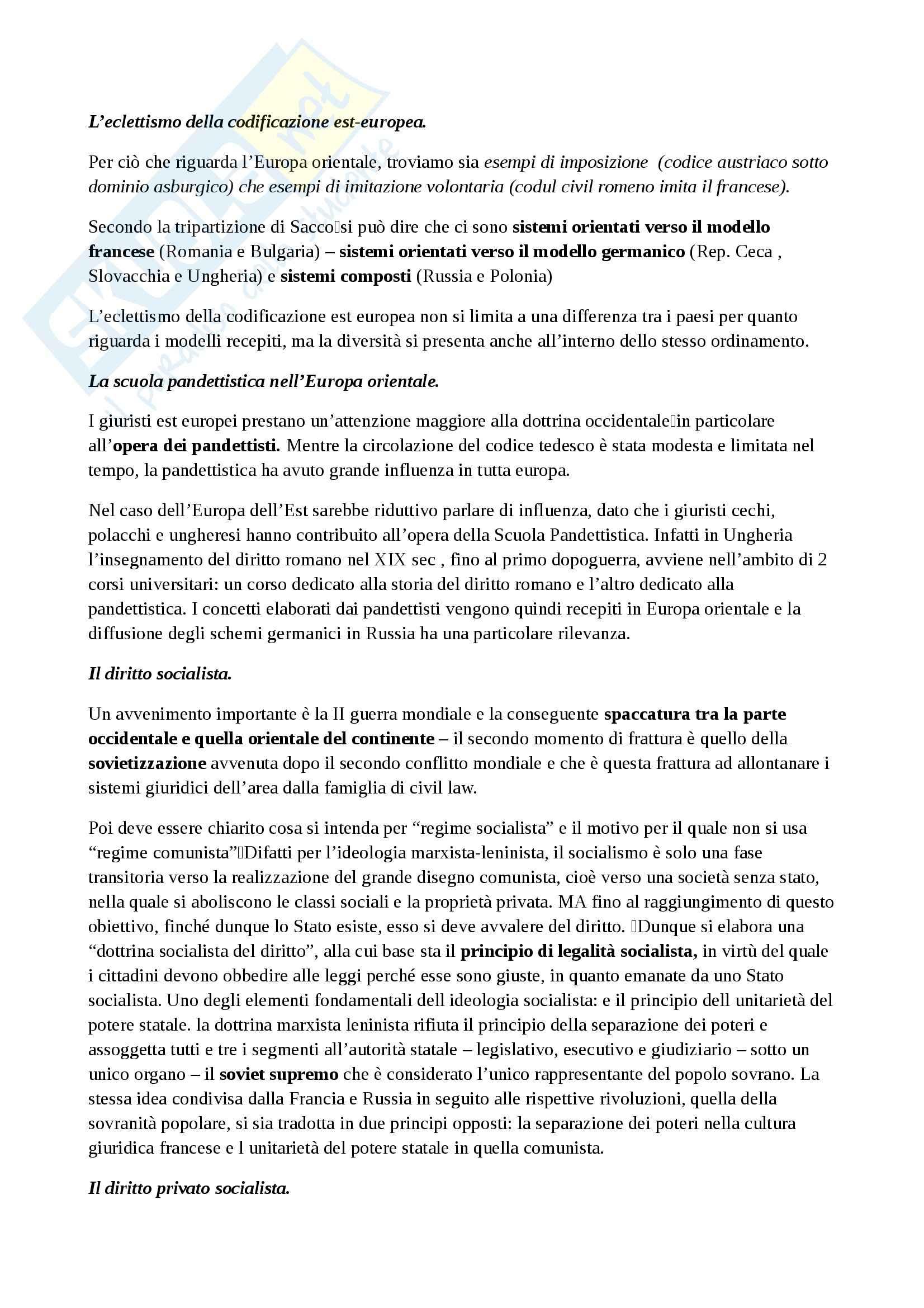 Riassunto esame Sistemi giuridici, prof. Zeno,  libro consigliato La tradizione giuridica occidentale, Varano, Barsotti Pag. 46