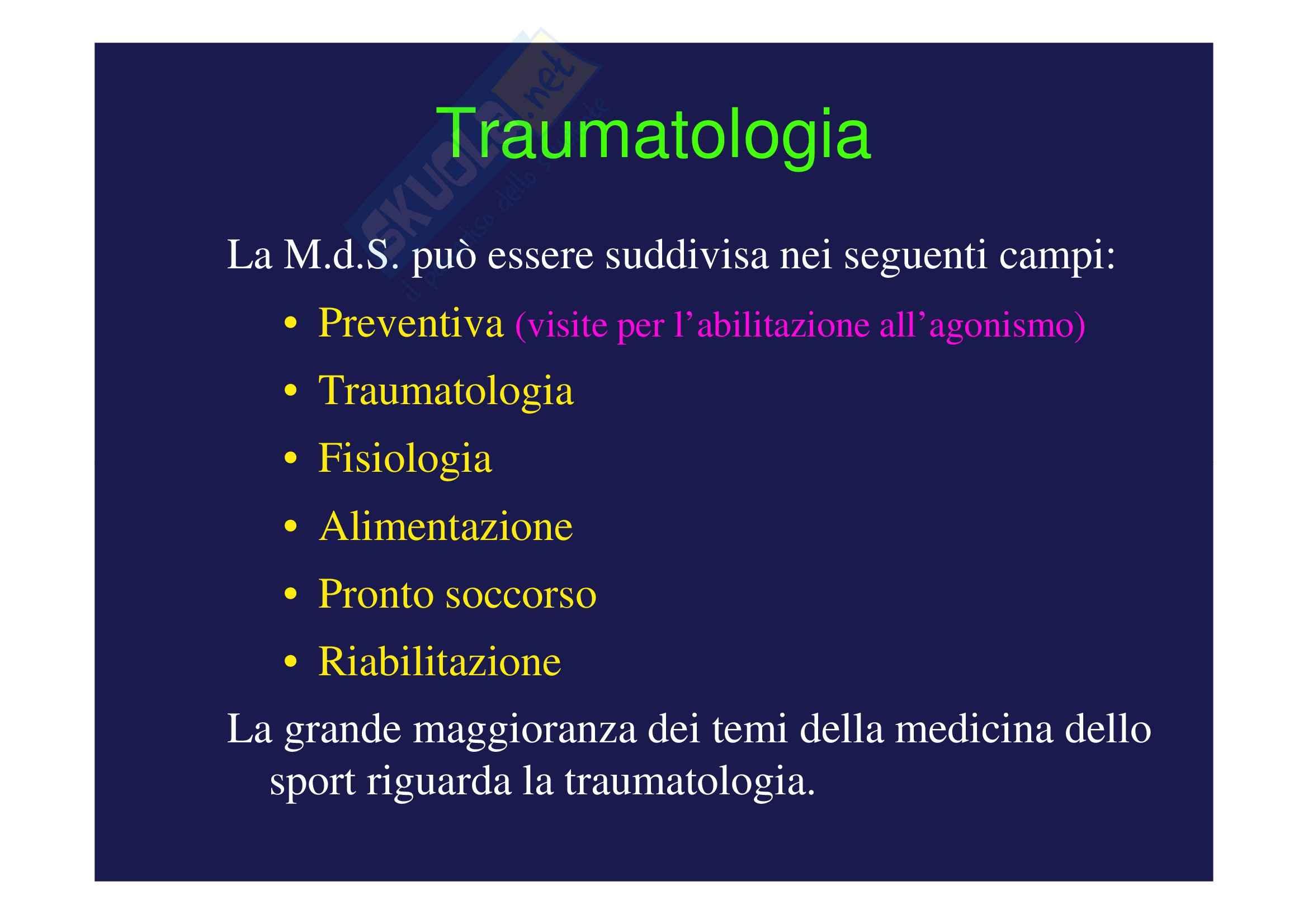Traumatologia dello sport - appunti vari