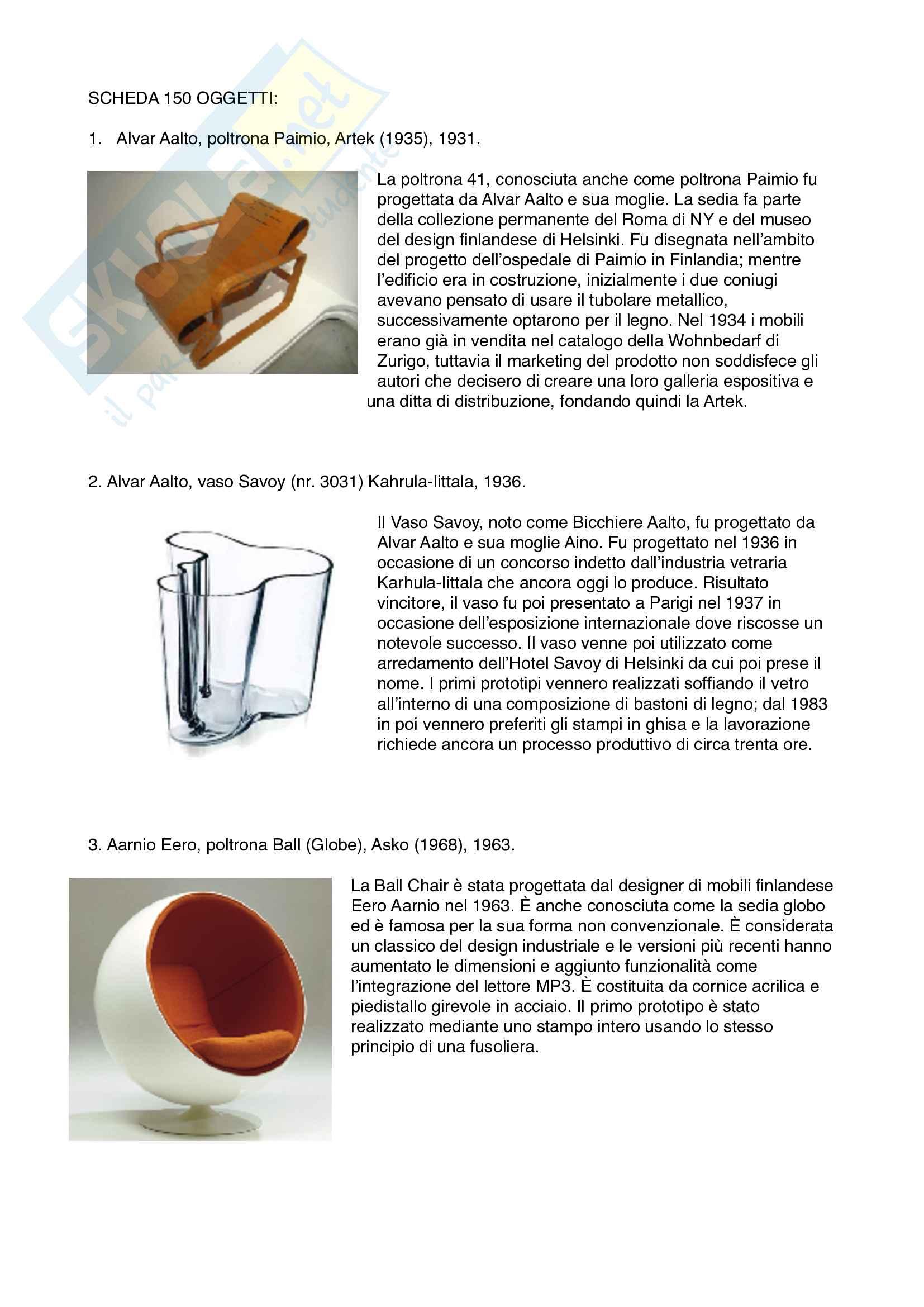 150 oggetti, storia del design