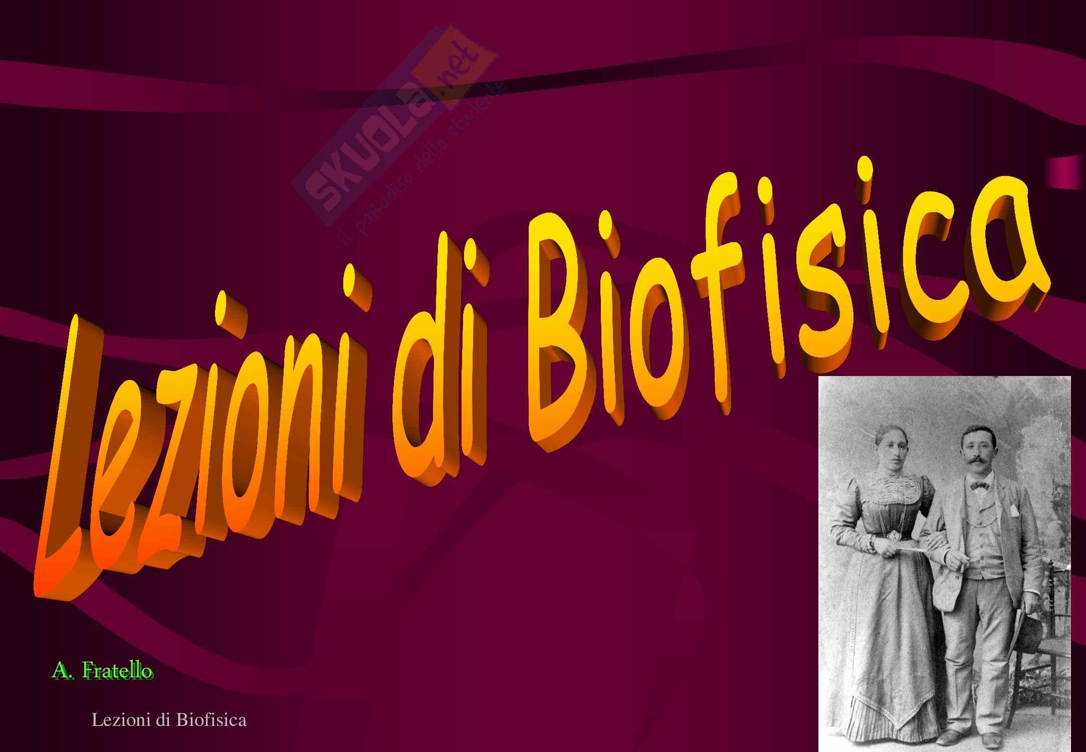 Biofisica - Introduzione