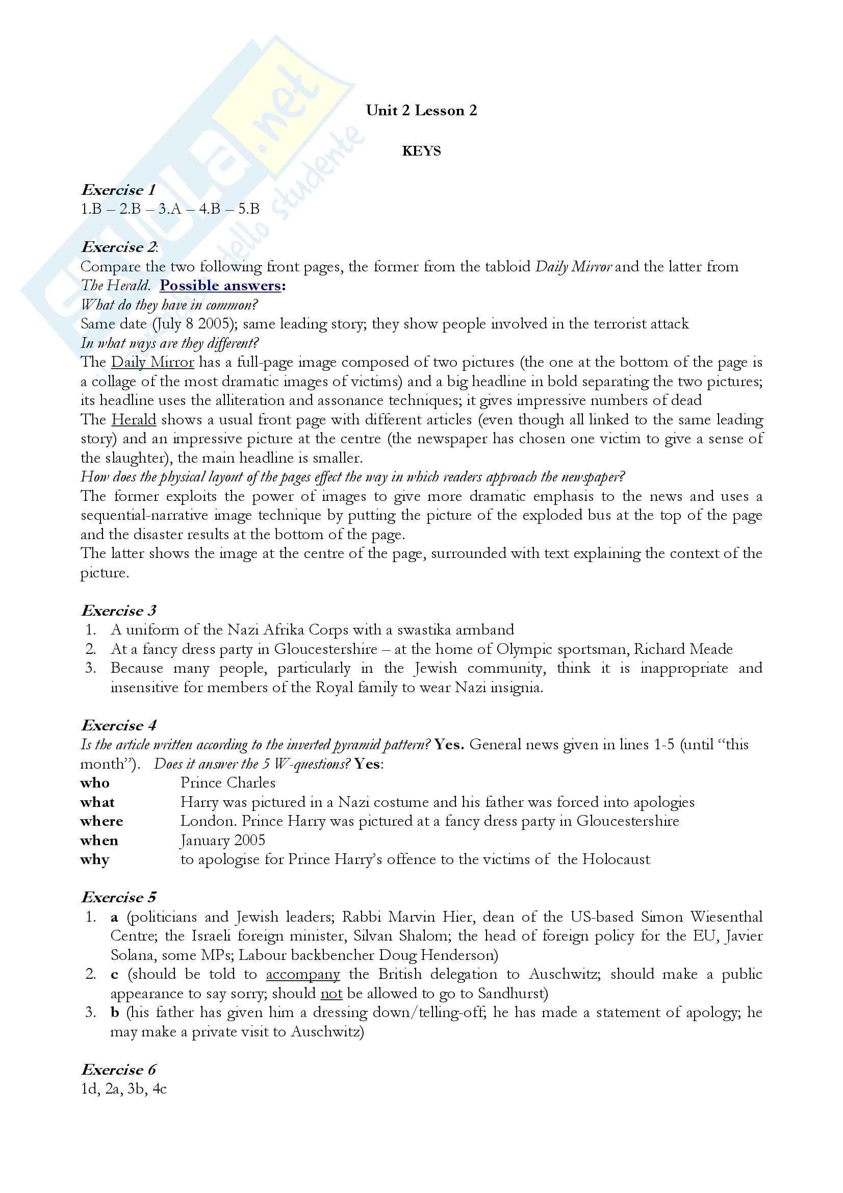 Esercitazione inglese Pag. 2
