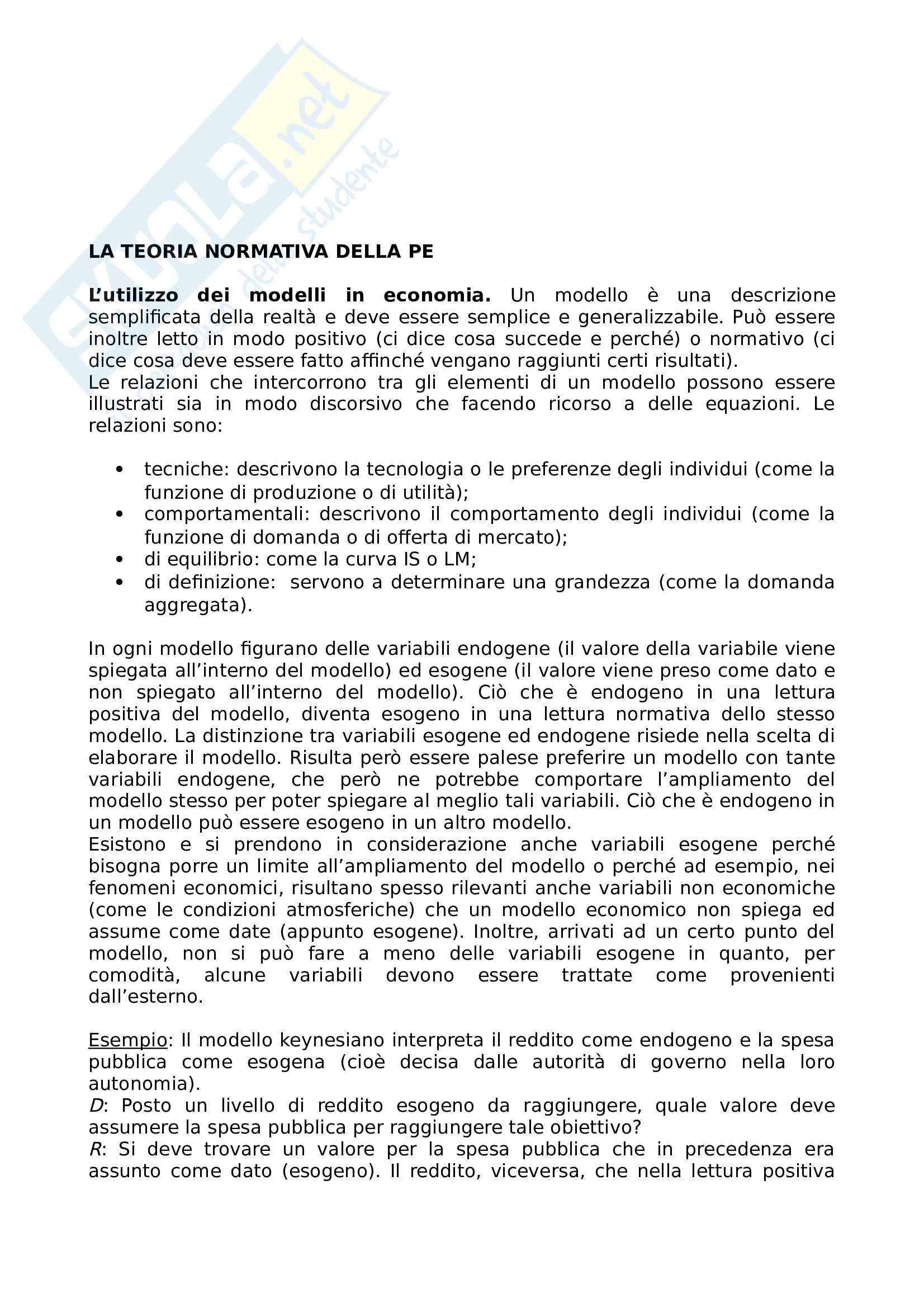 Riassunto di Politica Economica, prof. Biondo, aggiornato 07/2018 Pag. 2