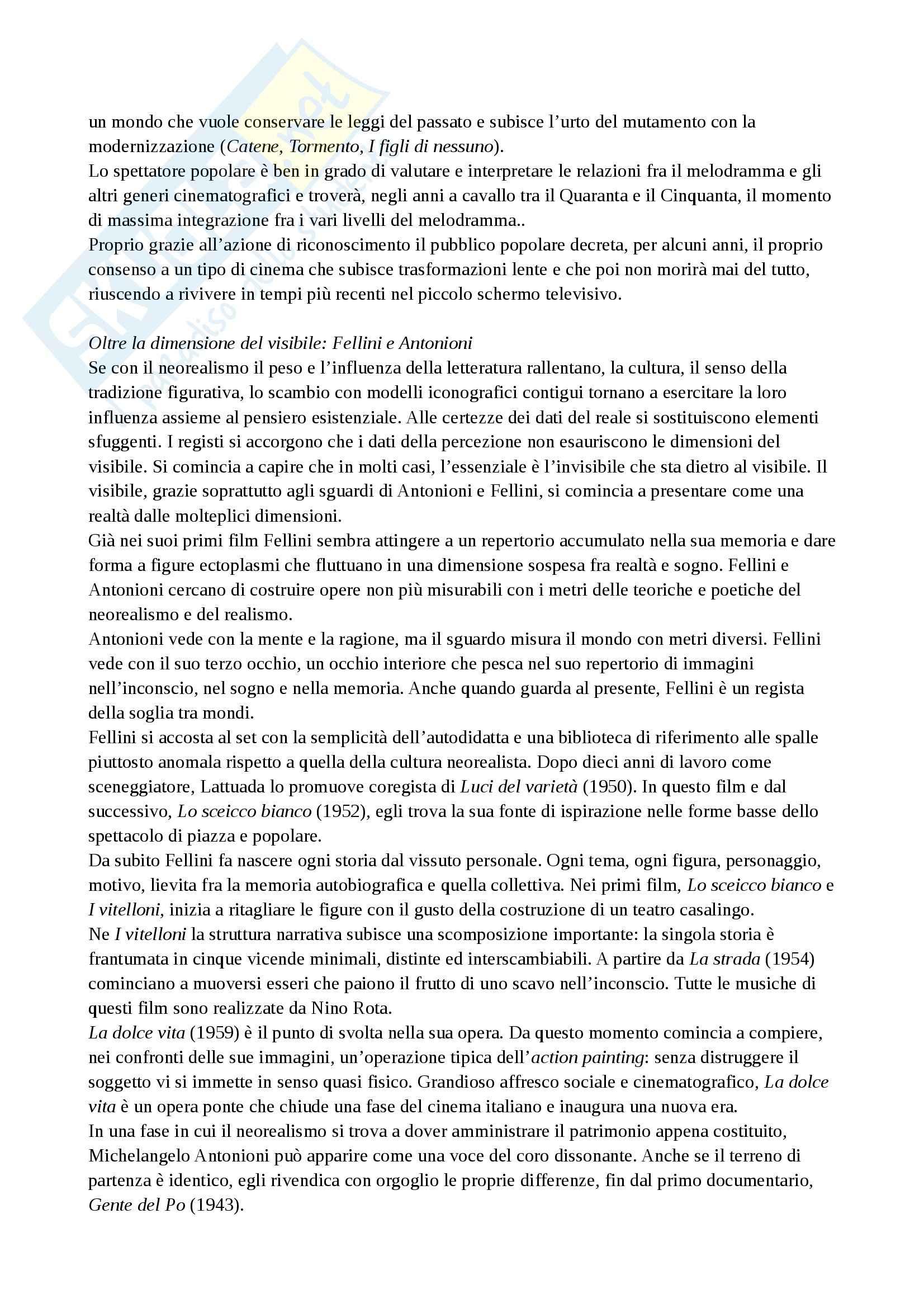 Riassunto esame Storia del cinema, prof. Della Torre, libro consigliato Guida alla storia del cinema italiano, Brunetta Pag. 26