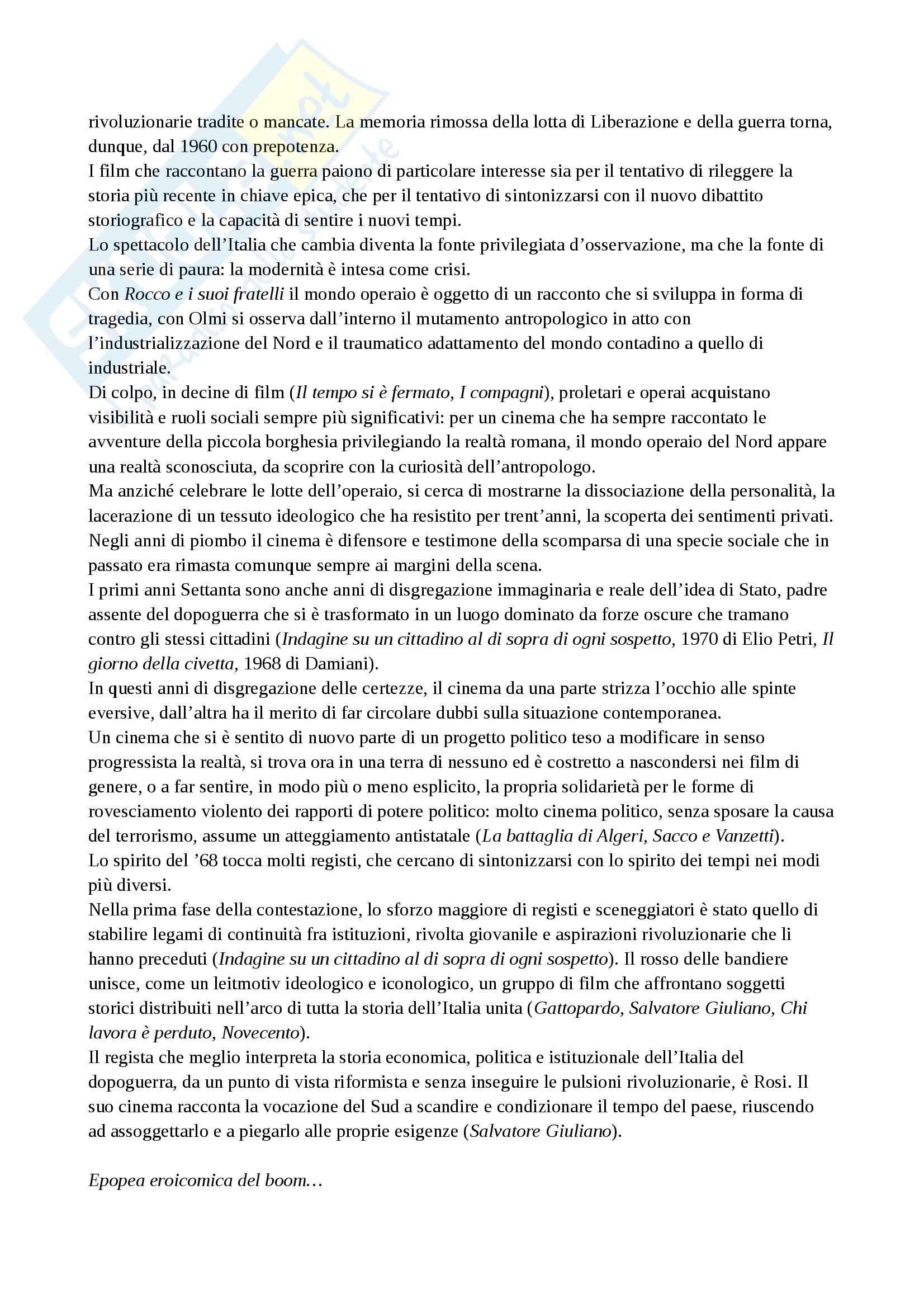 Riassunto esame Storia del cinema, prof. Della Torre, libro consigliato Guida alla storia del cinema italiano, Brunetta Pag. 31