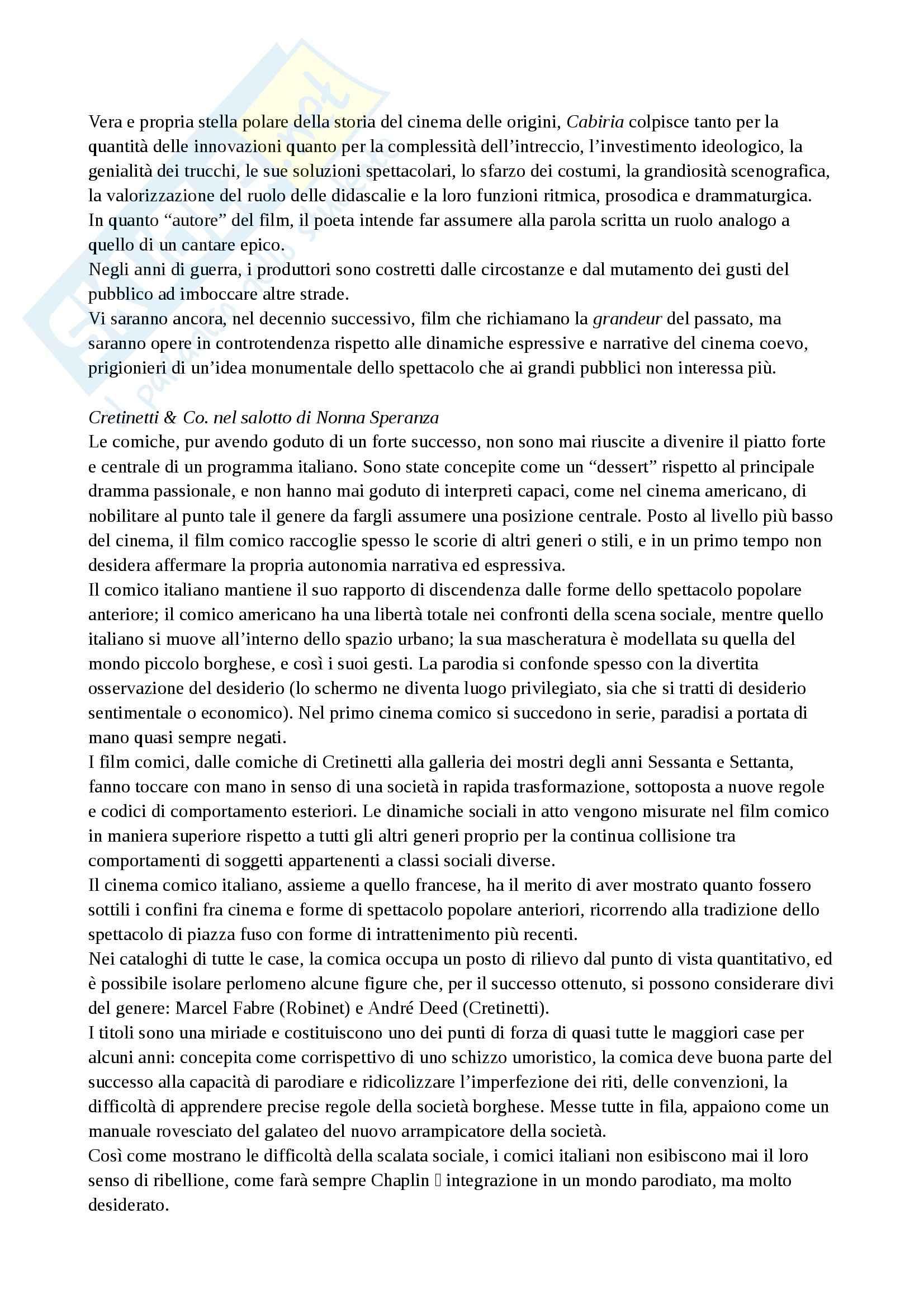 Riassunto esame Storia del cinema, prof. Della Torre, libro consigliato Guida alla storia del cinema italiano, Brunetta Pag. 6