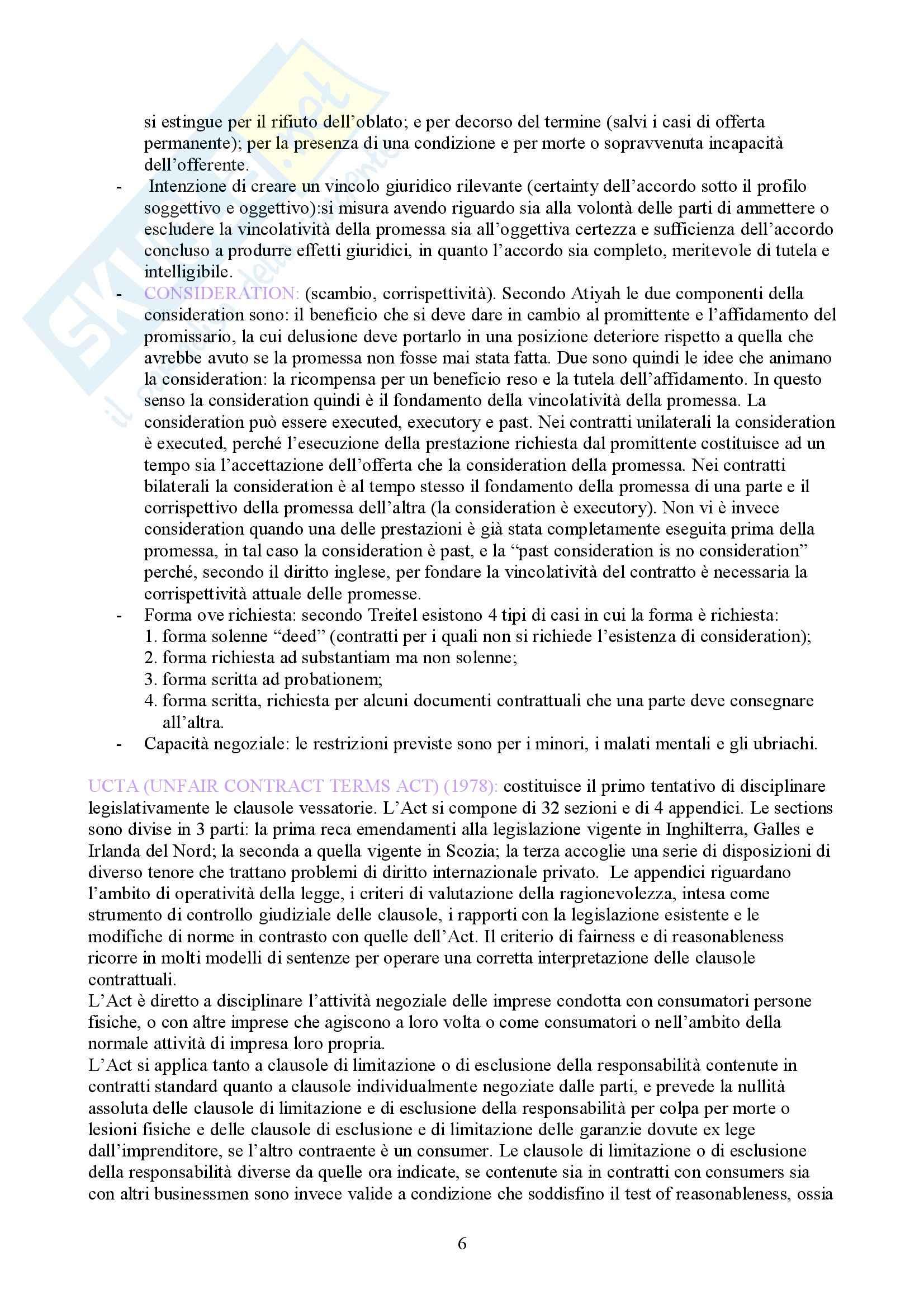 Diritto privato comparato - Domande Pag. 6